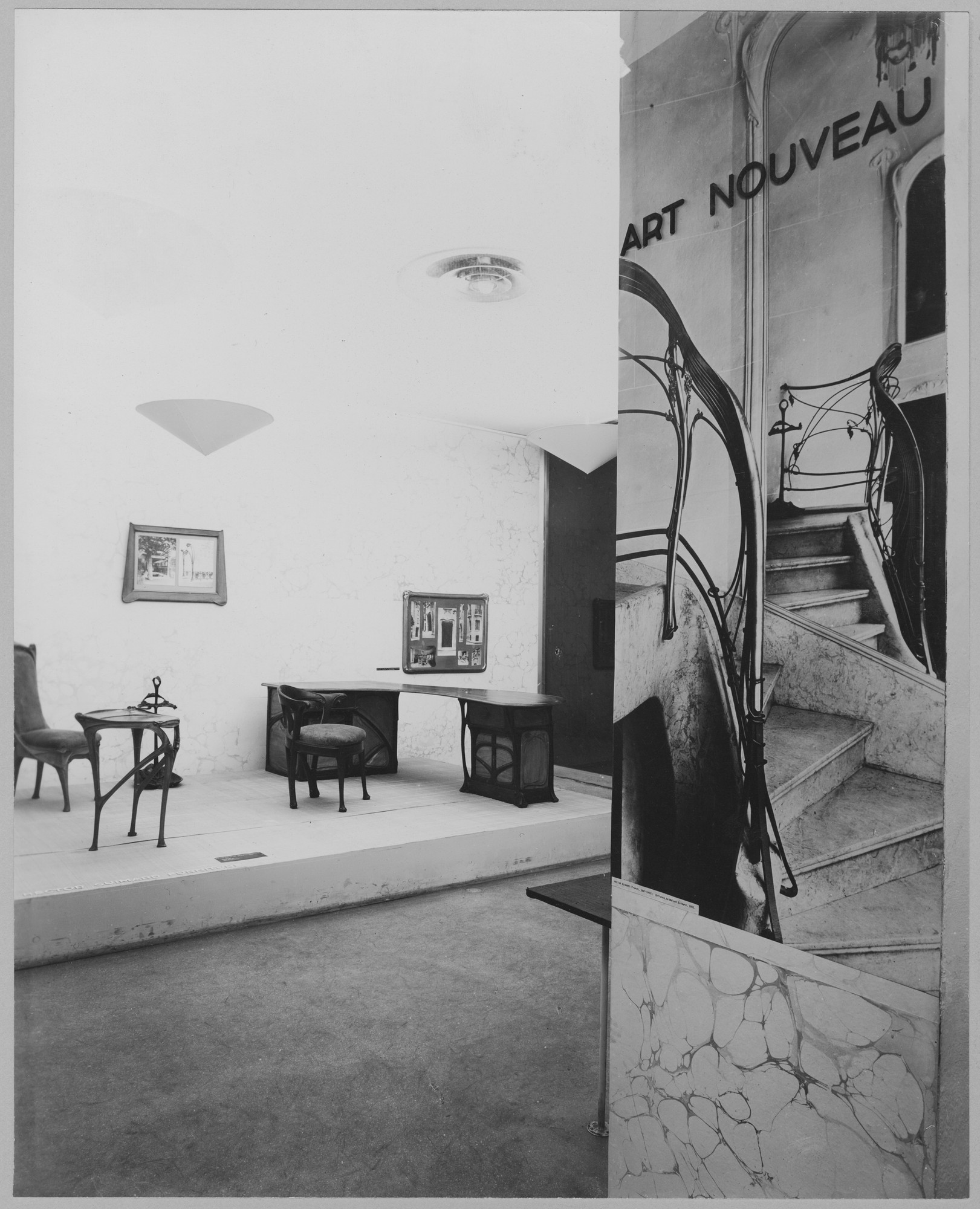 "Installation view of the exhibition, ""Art Nouveau from the Museum Collection."" July 12, 1949–September 5, 1949. Photographic Archive. The Museum of Modern Art Archives, New York. IN414.1. Photograph by Soichi Sunami."