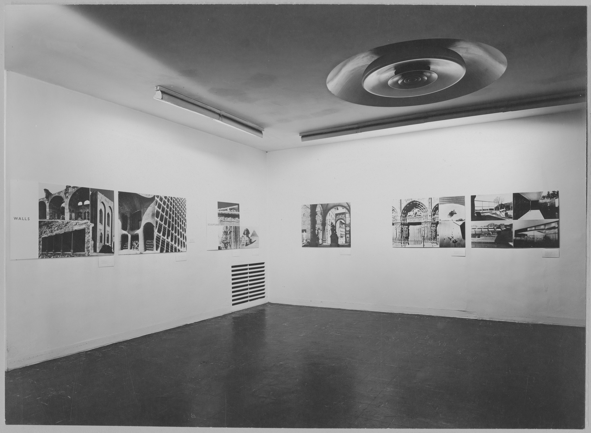 "Installation view of the exhibition, ""Painting and Sculpture in Architecture."" August 3, 1949–October 2, 1949. Photographic Archive. The Museum of Modern Art Archives, New York. IN419.1. Photograph by Soichi Sunami."