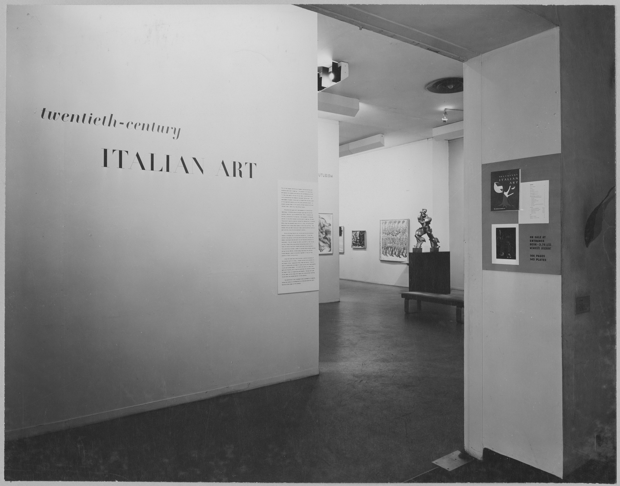 "Installation view of the exhibition, ""Twentieth Century Italian Art."" June 28, 1949–September 18, 1949. Photographic Archive. The Museum of Modern Art Archives, New York. IN413.1. Photograph by Soichi Sunami."