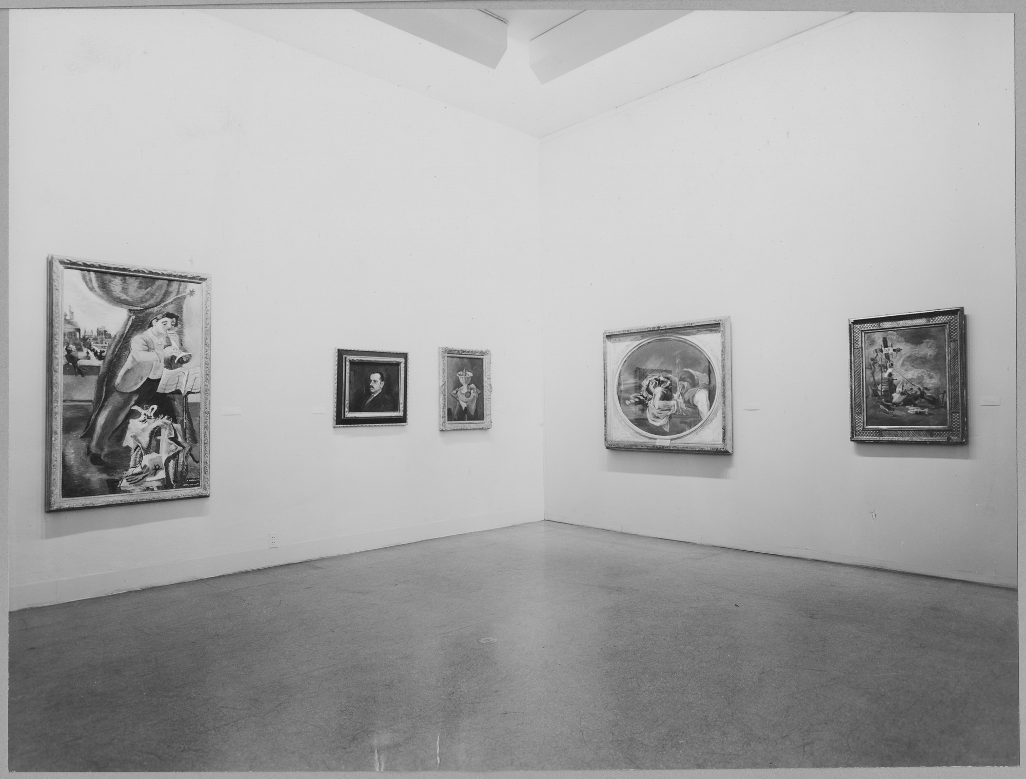"Installation view of the exhibition, ""Franklin Watkins."" March 21, 1950–June 11, 1950. Photographic Archive. The Museum of Modern Art Archives, New York. IN440.1. Photograph by Soichi Sunami."