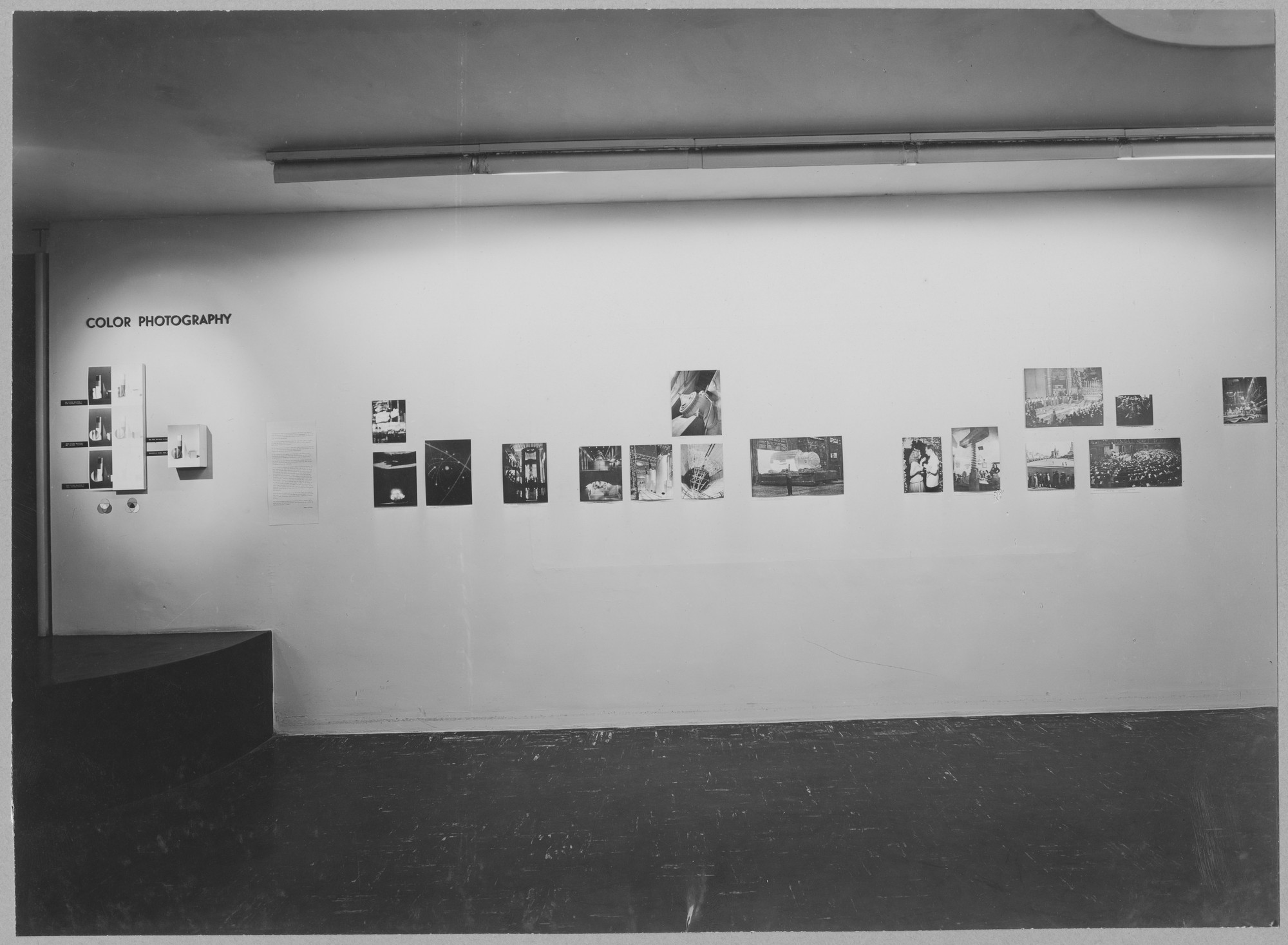 "Installation view of the exhibition, ""Color Photography"" May 9, 1950–July 4, 1950. Photographic Archive. The Museum of Modern Art Archives, New York. IN445.1. Photograph by Soichi Sunami."