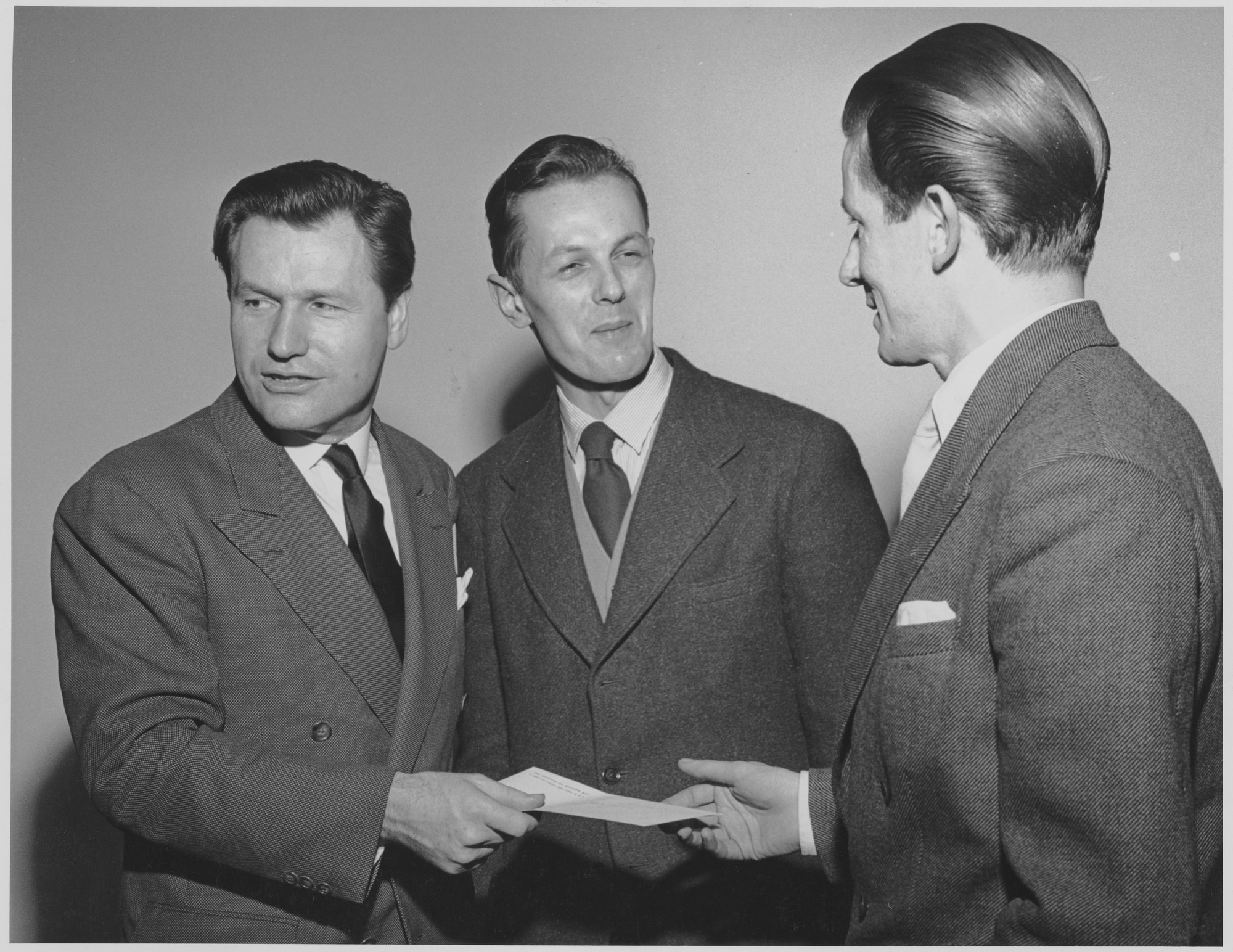 Awarding of the Prizes  Left to Right: Nelson A  Rockefeller, Clive