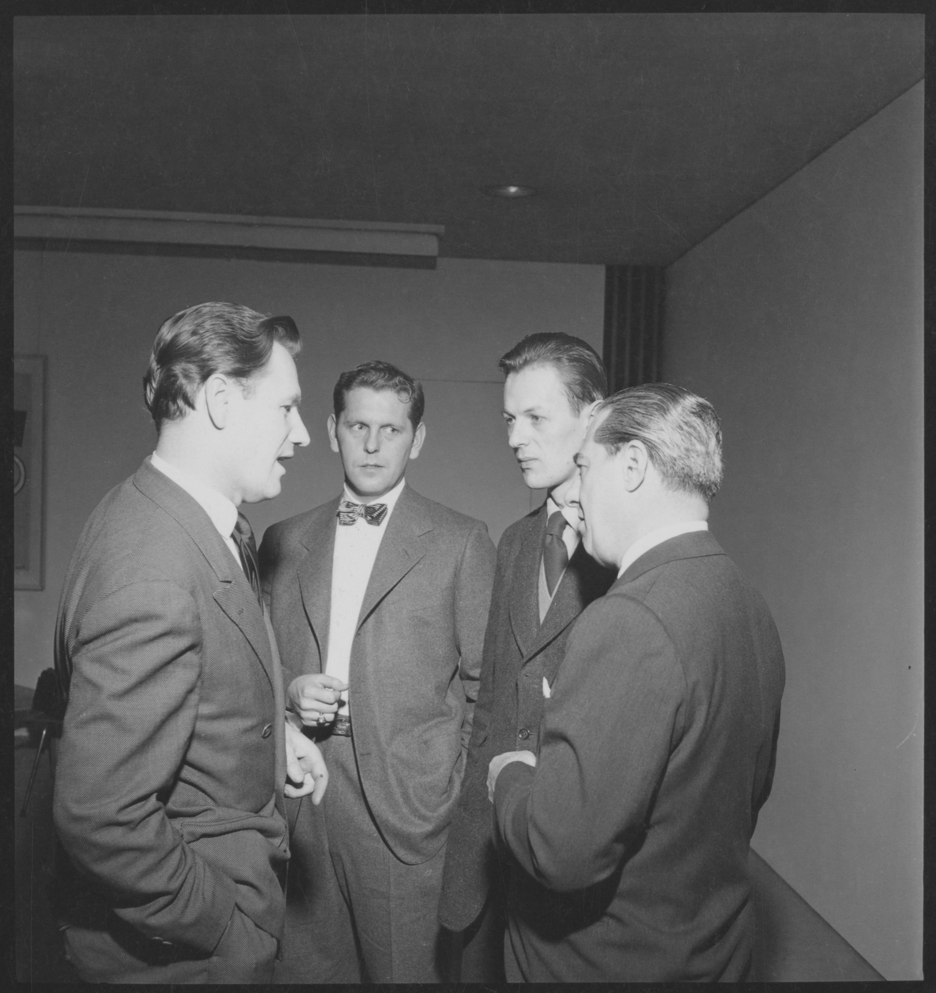 Left to right: Nelson A  Rockefeller, Don R  Knorr, Clive