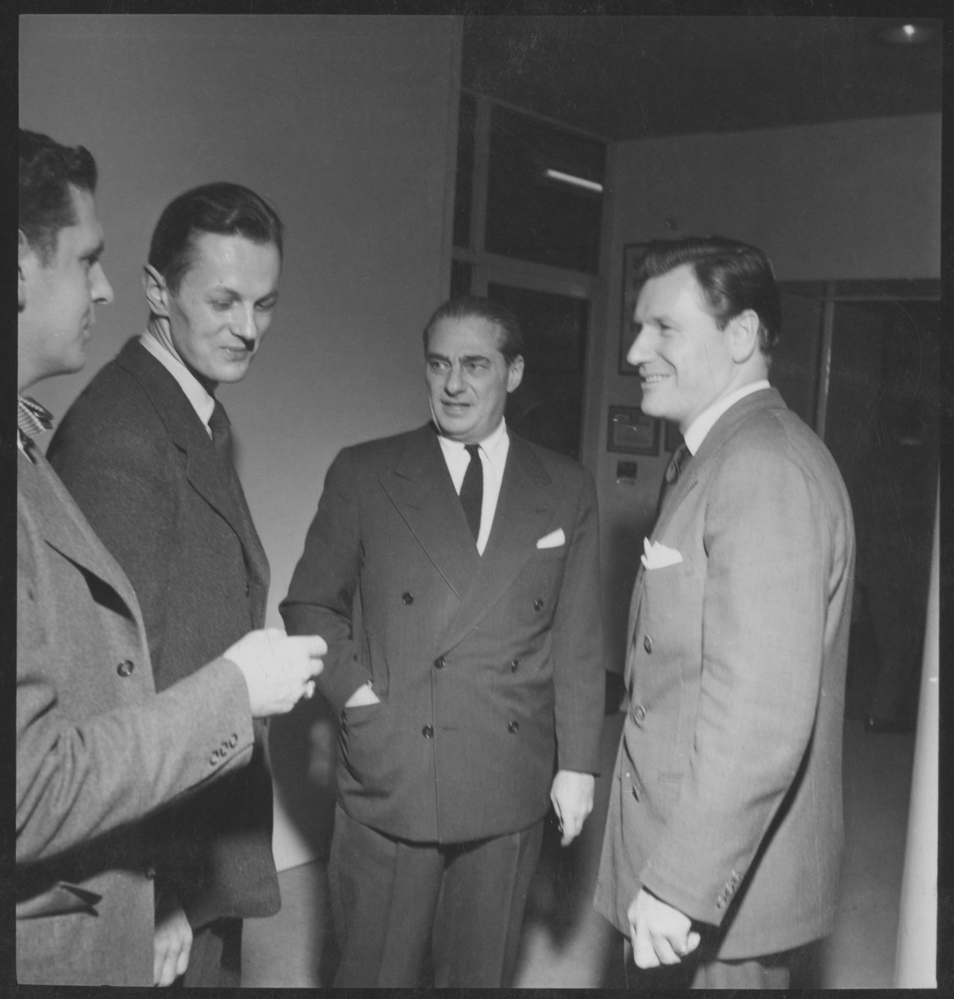 Left to right: Don R  Knorr, Clive Latimer, Harry Fish and Nelson A