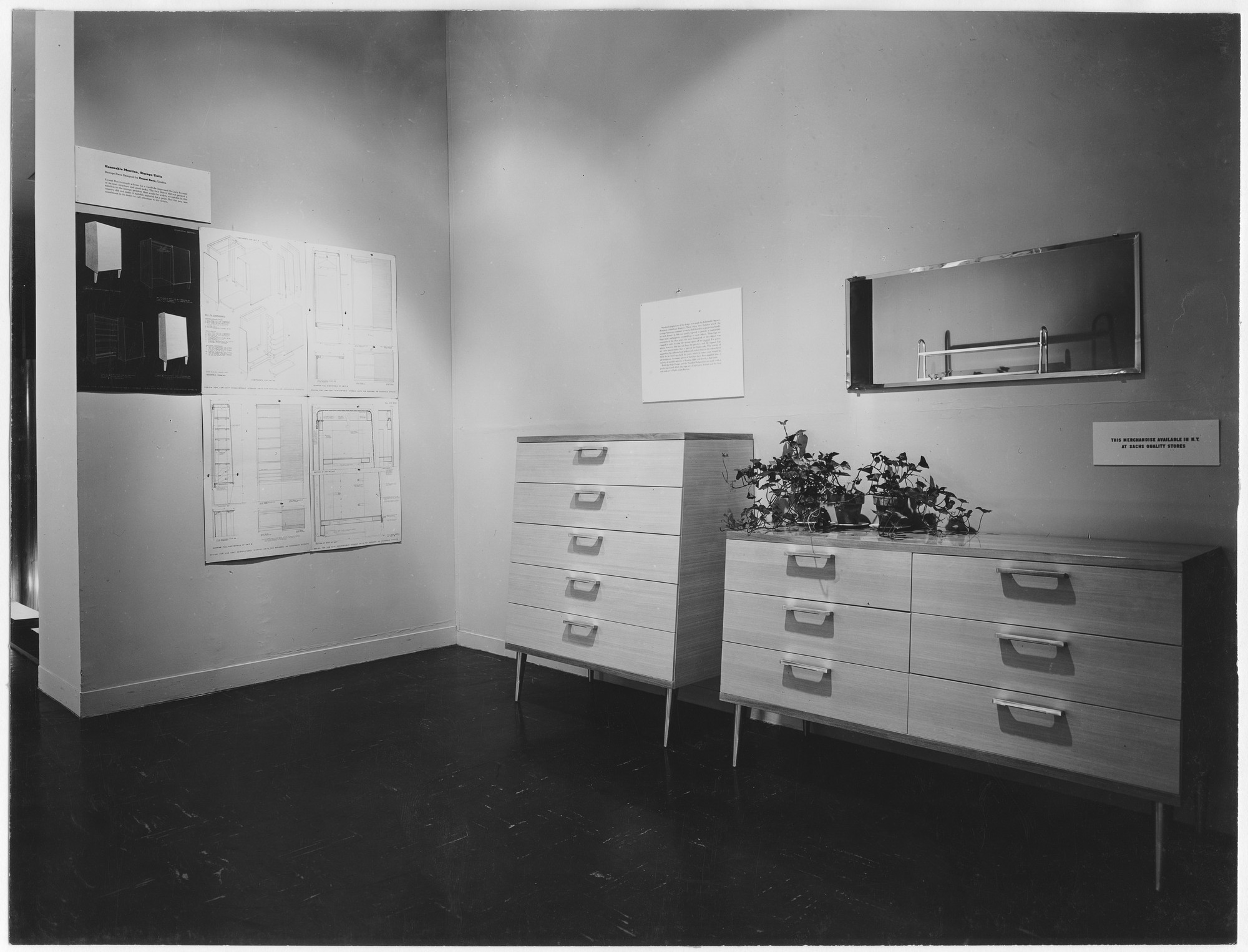 "Installation view of the exhibition, ""Prize Design for Modern Furniture."" May 16, 1950–July 16, 1950. Photographic Archive. The Museum of Modern Art Archives, New York. IN446.1. Photograph by Soichi Sunami."