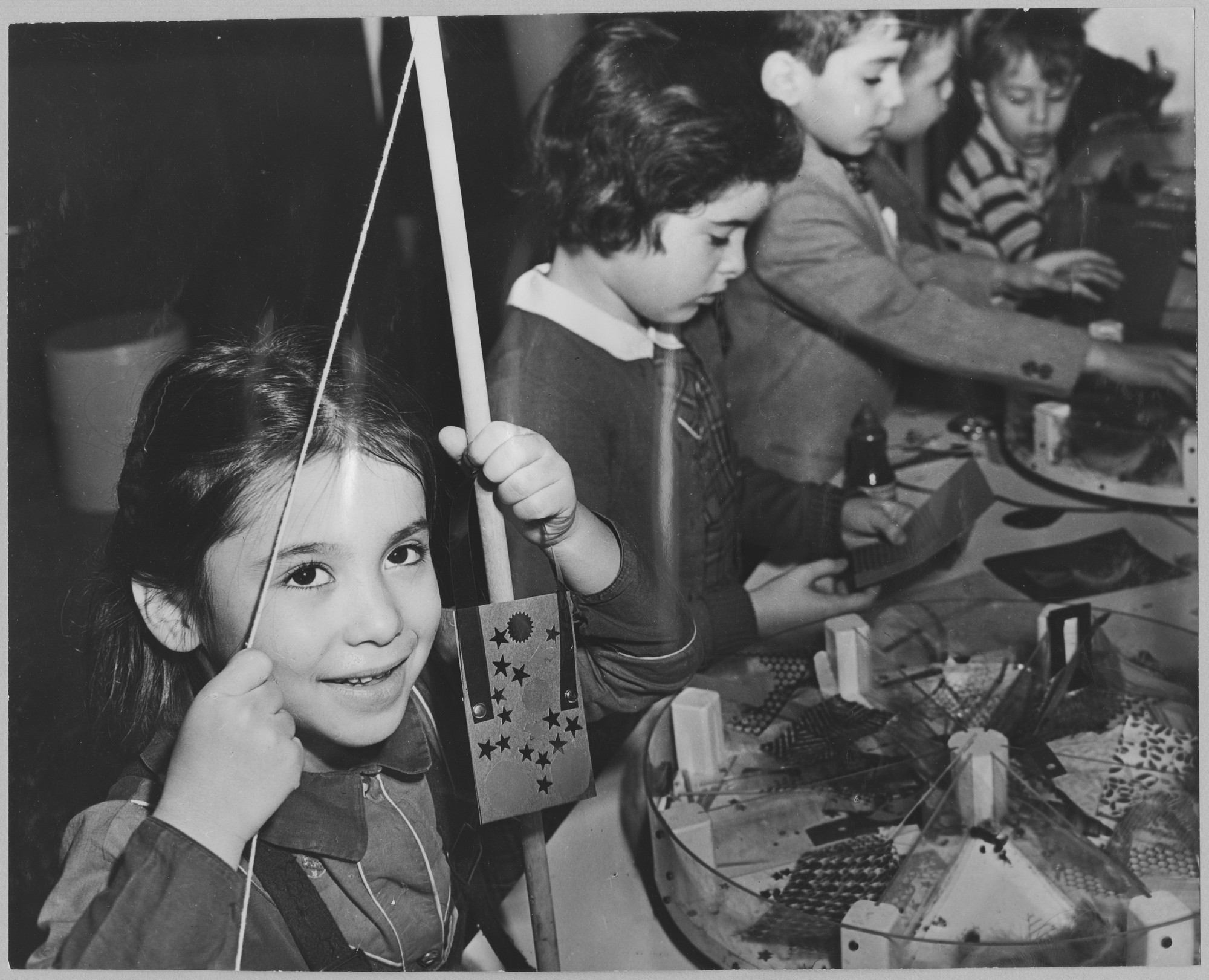 "Participants at the exhibition, ""Children's Holiday Carnival of Modern Art."" December 5, 1950–January 7, 1951. Photographic Archive. The Museum of Modern Art Archives, New York. IN465.1. Photograph by Soichi Sunami."