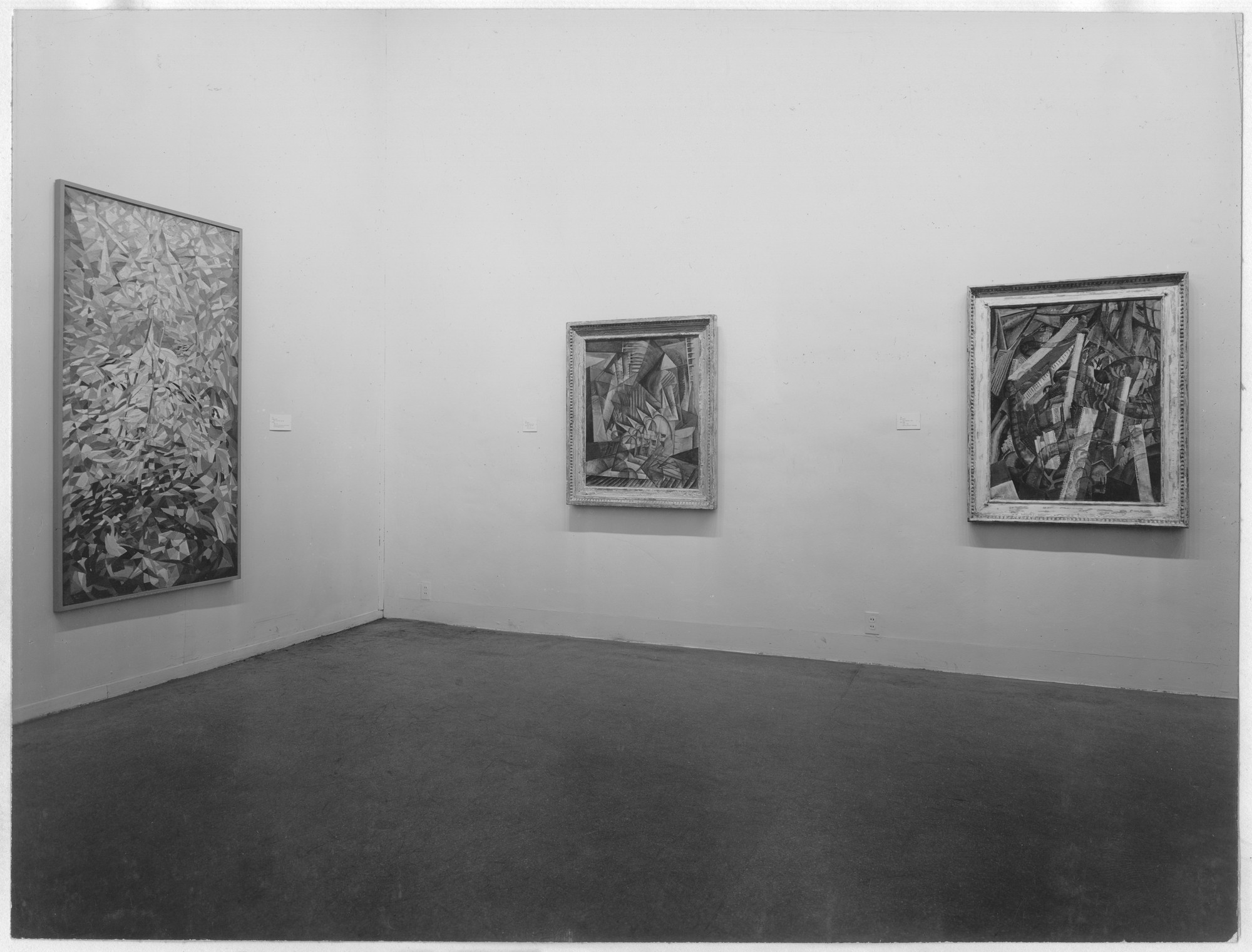 "Installation view of the exhibition, ""Abstract Painting and Sculpture in America."" January 23, 1951–March 25, 1951. Photographic Archive. The Museum of Modern Art Archives, New York. IN466.1. Photograph by Soichi Sunami."