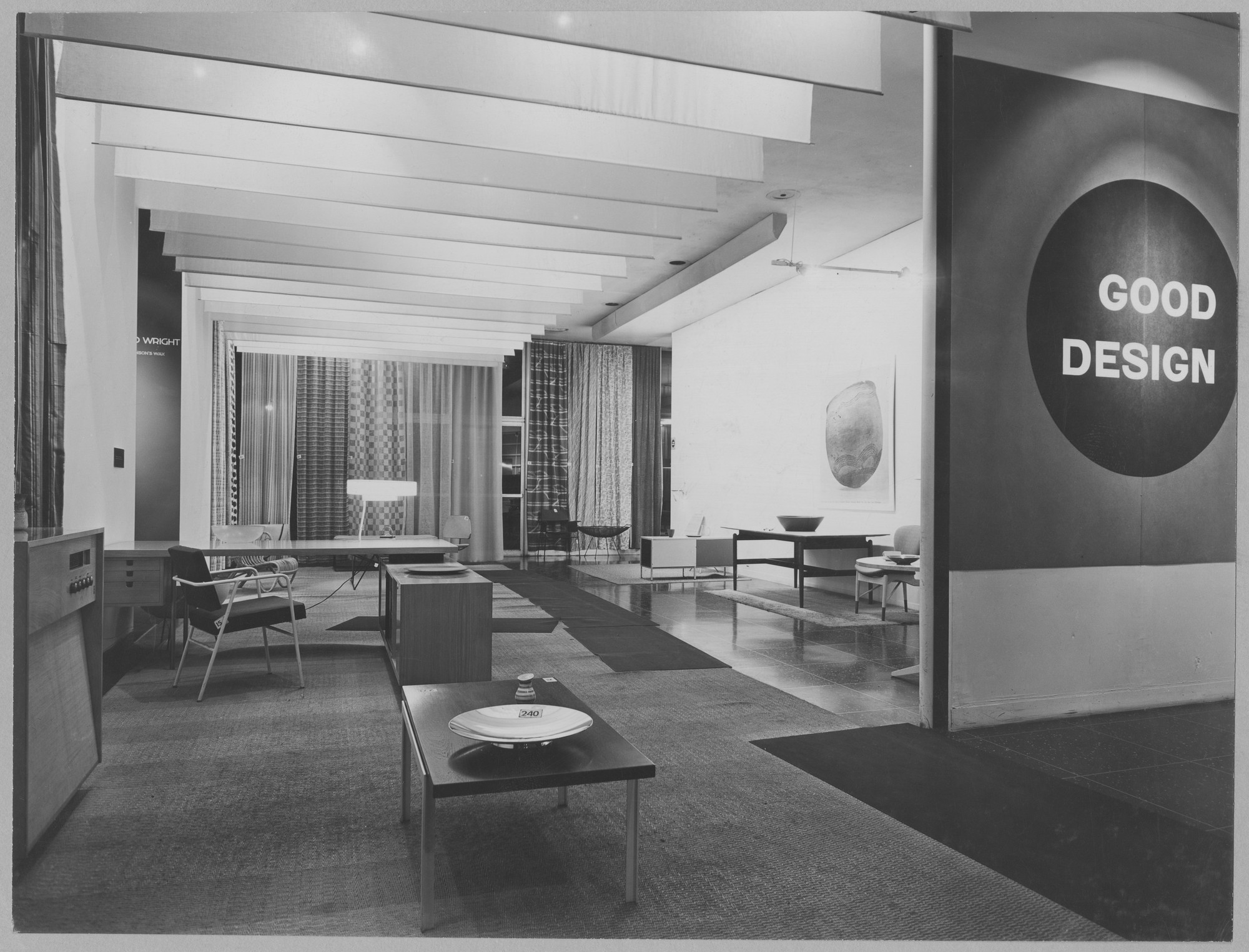 "Installation view of the exhibition, ""Good Design"" November 27, 1951–January 27, 1952. Photographic Archive. The Museum of Modern Art Archives, New York. IN494.1. Photograph by Soichi Sunami."