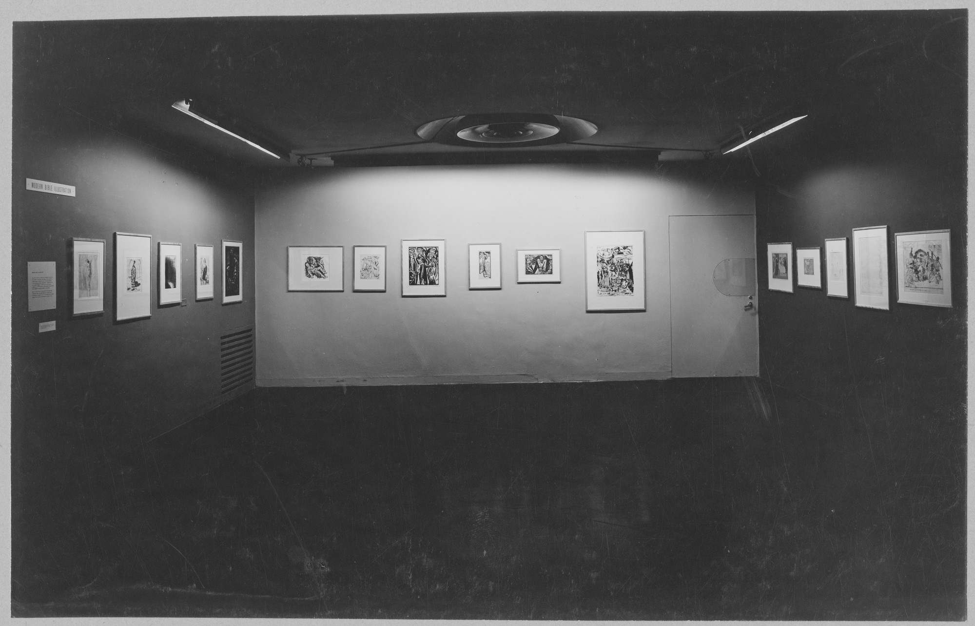 "Installation view of the exhibition, ""Modern Bible Illustration."" July 18, 1951–August 19, 1951. Photographic Archive. The Museum of Modern Art Archives, New York. IN484.1. Photograph by Soichi Sunami."