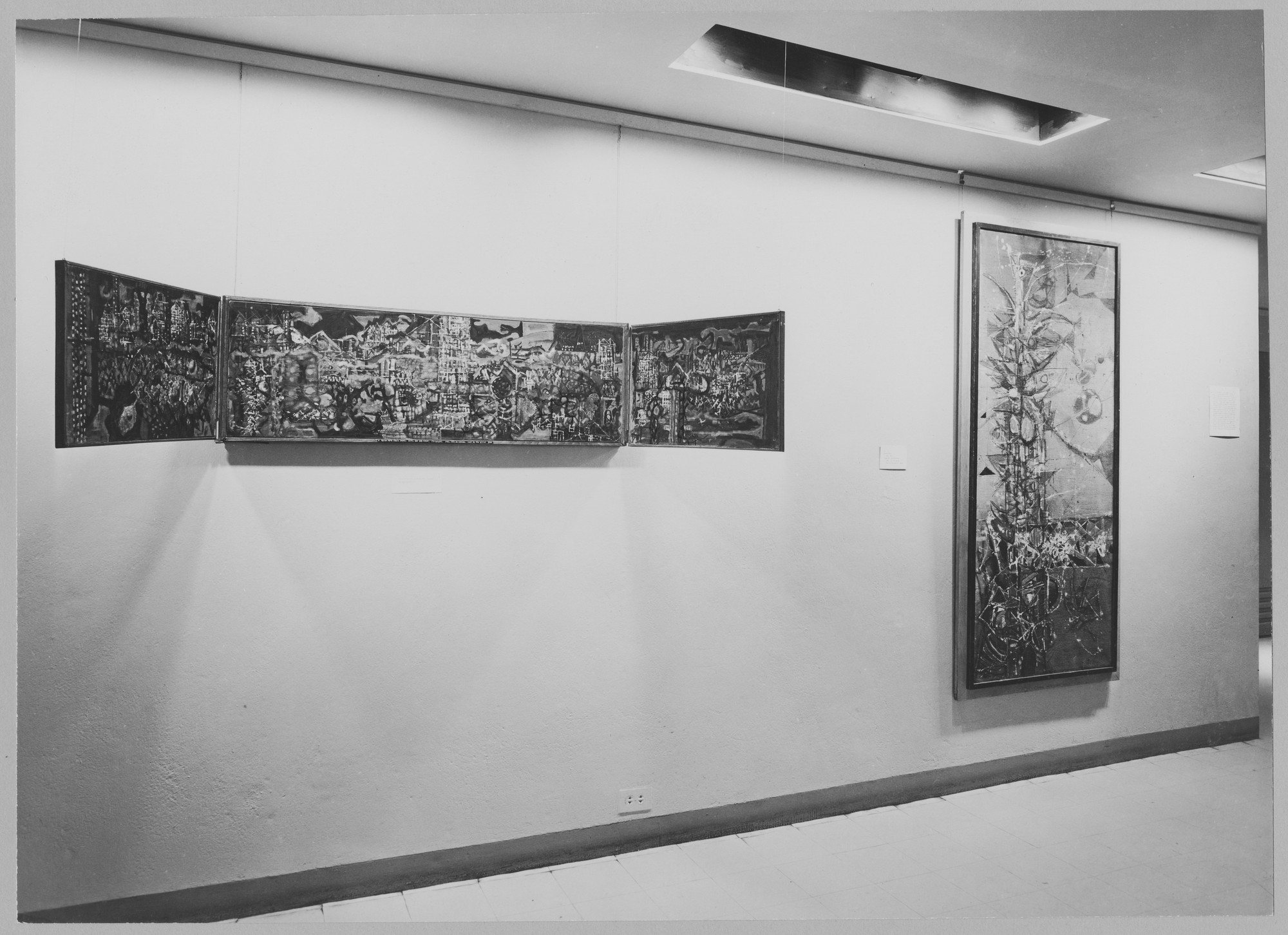 "Installation view of the exhibition, ""New Talent (V)."" November 11, 1952–January 11, 1953. Photographic Archive. The Museum of Modern Art Archives, New York. IN524.1. Photograph by Soichi Sunami."
