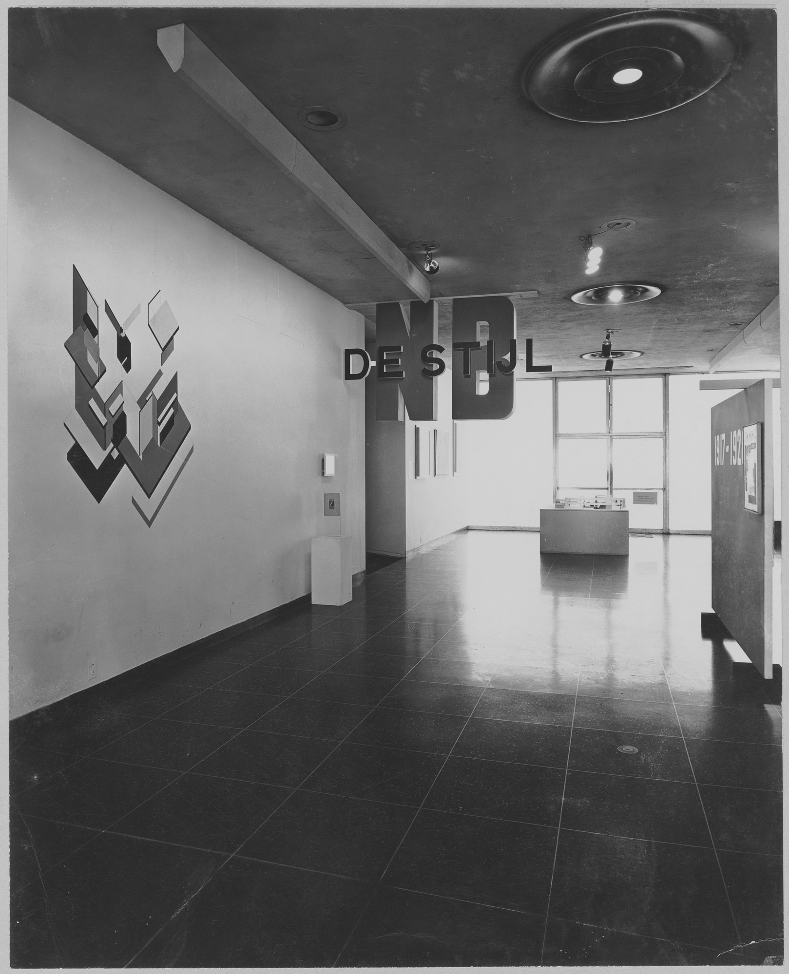 "Installation view of the exhibition, ""De Stijl."" December 16, 1952–February 15, 1953. Photographic Archive. The Museum of Modern Art Archives, New York. IN527.1. Photograph by Soichi Sunami."