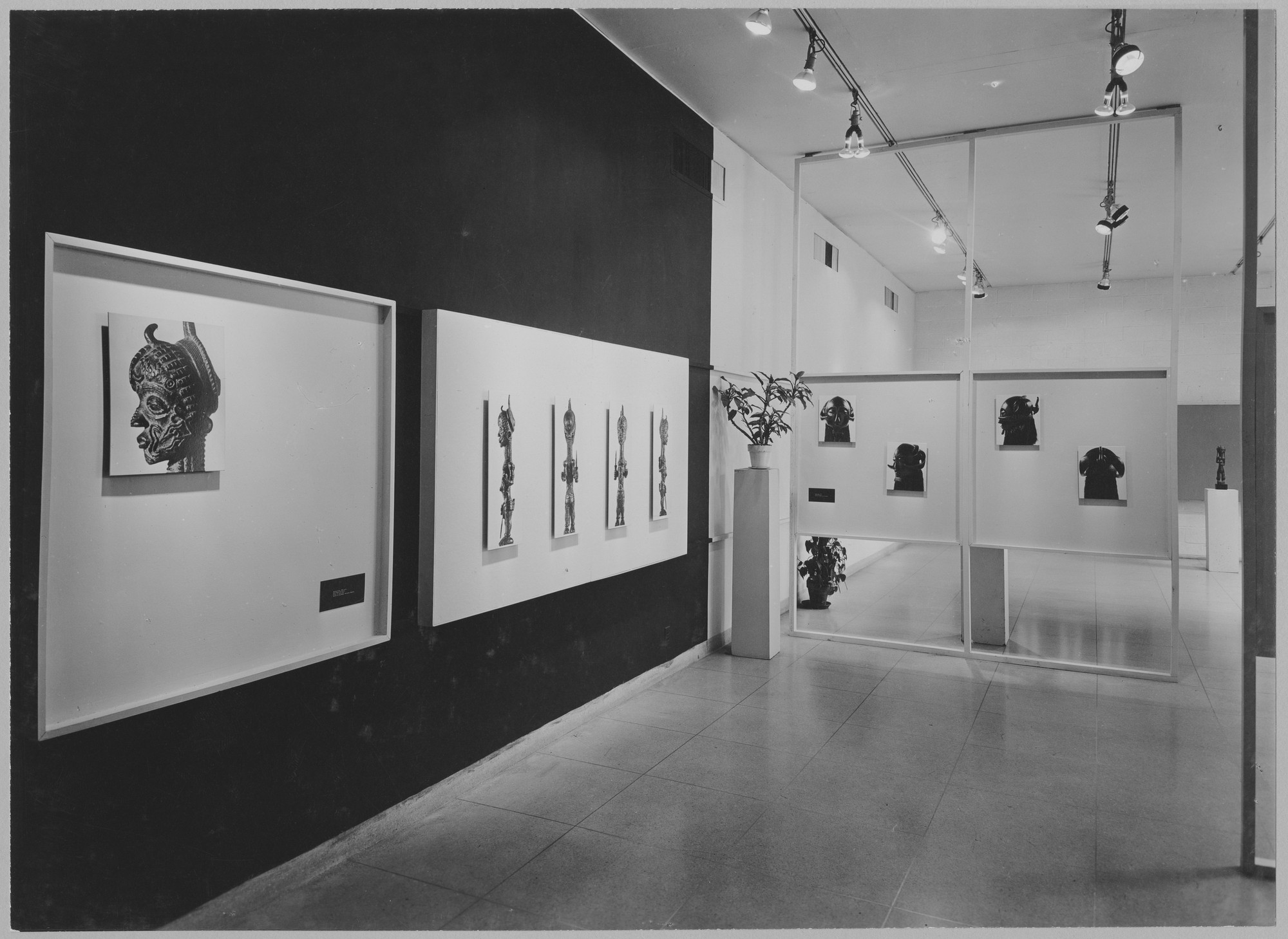 "Installation view of the exhibition, ""Understanding African Negro Sculpture."" July 1, 1952–October 5, 1952. Photographic Archive. The Museum of Modern Art Archives, New York. IN515.1. Photograph by Soichi Sunami."
