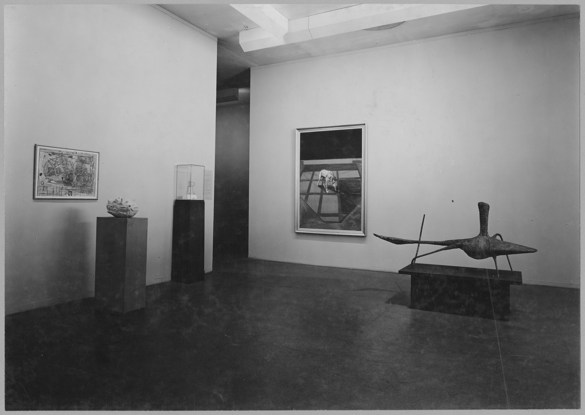 "Installation view of the exhibition, ""Museum Collections:  New Acquisitions, Recent American Prints 1947 - 1953, Katherine S. Dreier Bequest, Kuniyoshi and Spencer, Expressionism in Germany, Varieties of Realism."" June 23, 1953–October 4, 1953. Photographic Archive. The Museum of Modern Art Archives, New York. IN538.1. Photograph by Soichi Sunami."
