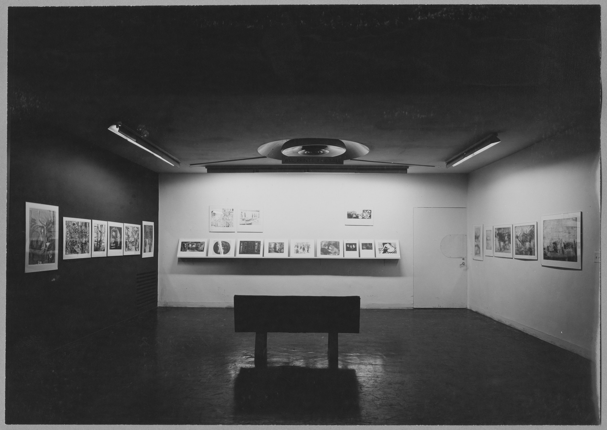 "Installation view of the exhibition, ""Young American Printmakers."" November 25, 1953–January 31, 1954. Photographic Archive. The Museum of Modern Art Archives, New York. IN547.1. Photograph by Soichi Sunami."