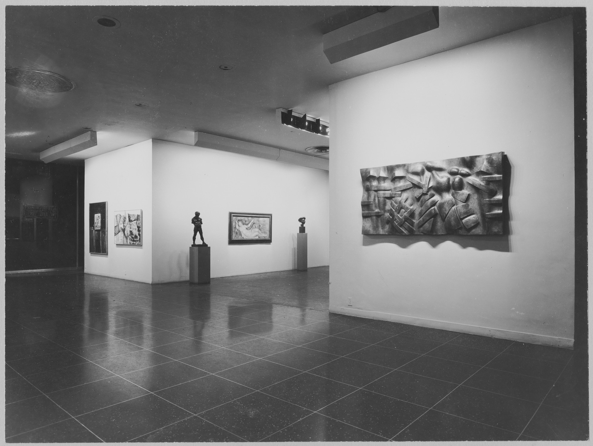 "Installation view of the exhibition, ""Recent European Acquisitions (Painting and Sculpture)."" November 28, 1956–January 13, 1957. Photographic Archive. The Museum of Modern Art Archives, New York. IN609.1. Photograph by Soichi Sunami."