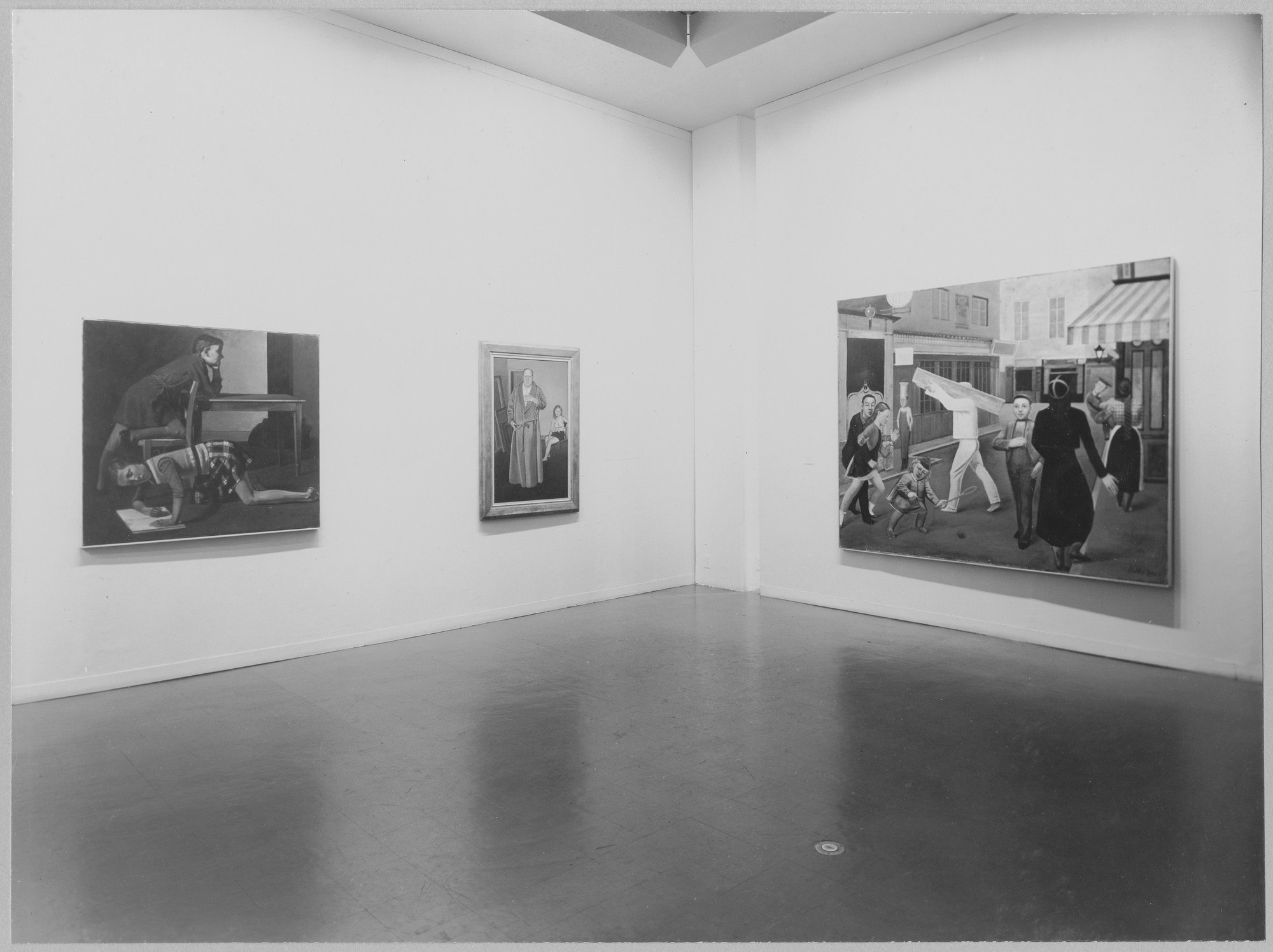 "Installation view of the exhibition, ""Balthus."" December 19, 1956–February 3, 1957. Photographic Archive. The Museum of Modern Art Archives, New York. IN611.1. Photograph by Soichi Sunami."