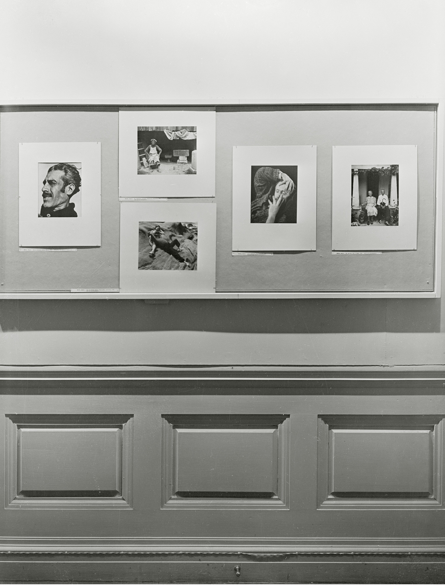 "Installation view of the exhibition, ""Portraits"" November 4, 1943–December 7, 1943. Photographic Archive. The Museum of Modern Art Archives, New York. IN244.1. Photograph by Beaumont Newhall."