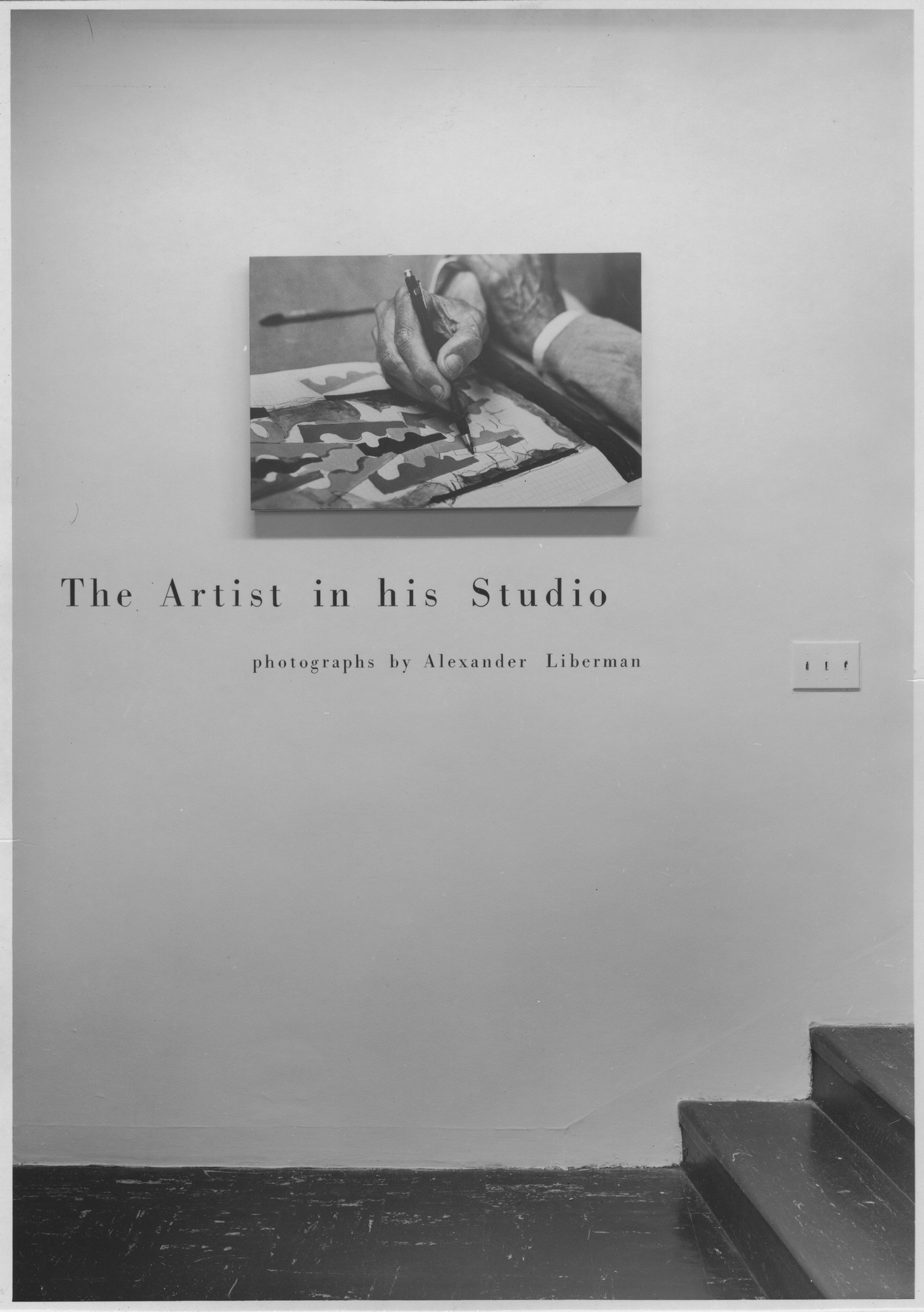"Installation view of the exhibition, ""The Artist in the Studio - Photos by Alexander Liberman."" October 29, 1959–January 13, 1960. Photographic Archive. The Museum of Modern Art Archives, New York. IN653.1. Photograph by de Morgoli."