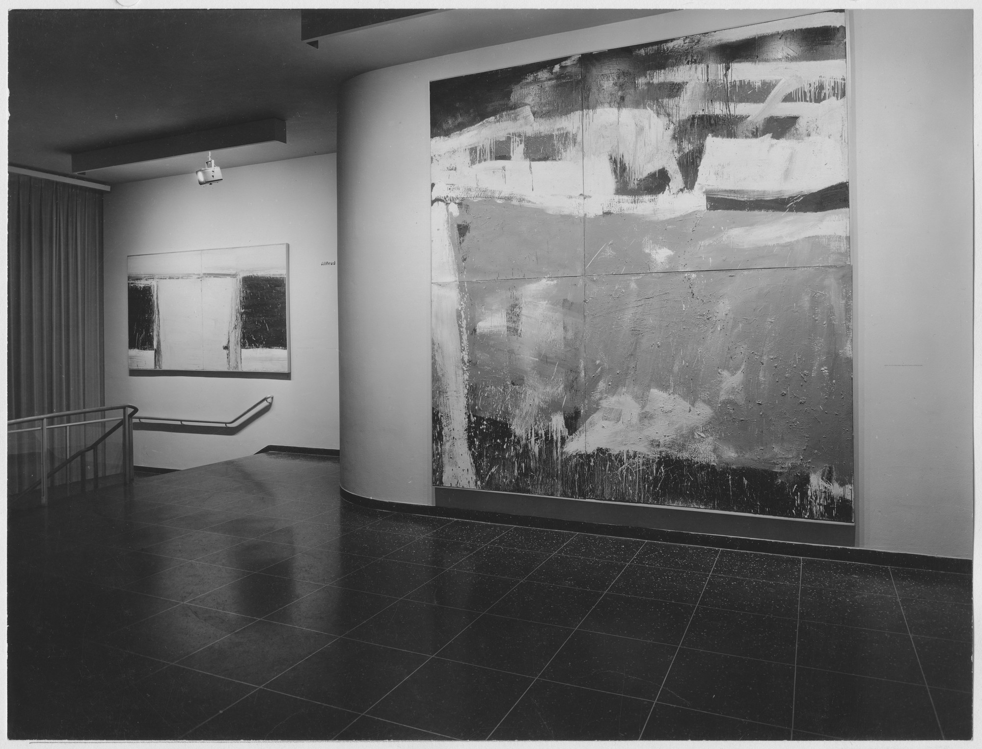 "Installation view of the exhibition, ""16 Americans."" December 16, 1959–February 17, 1960. Photographic Archive. The Museum of Modern Art Archives, New York. IN656.1. Photograph by Soichi Sunami."