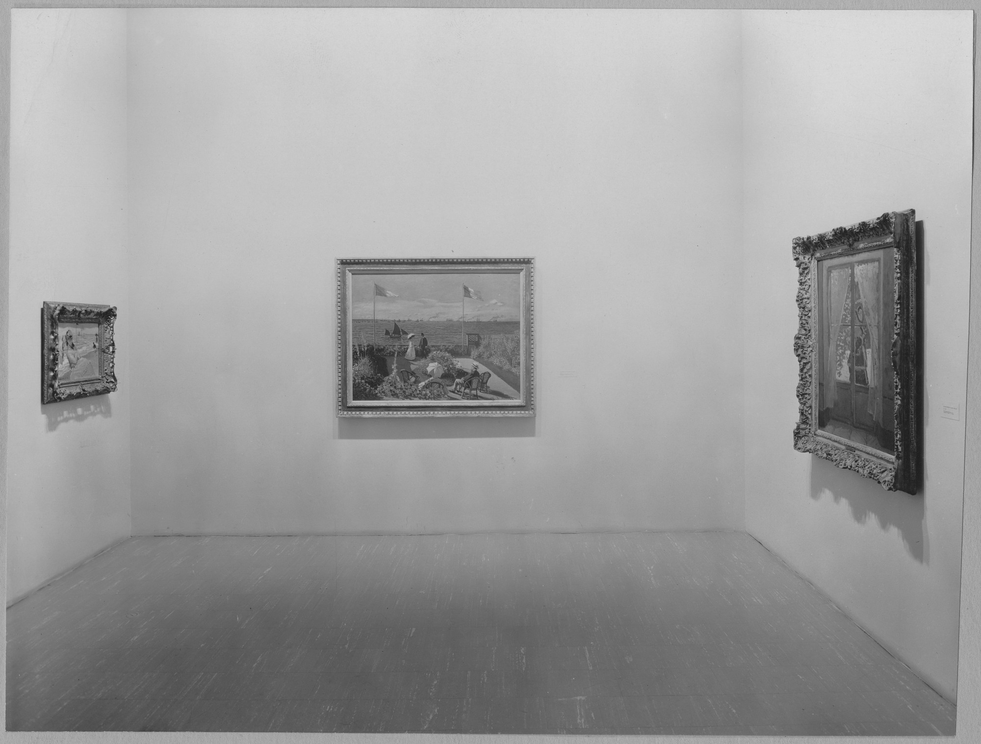 "Installation view of the exhibition, ""Claude Monet:  Seasons and Moments."" March 9, 1960–May 15, 1960. Photographic Archive. The Museum of Modern Art Archives, New York. IN660.1. Photograph by Soichi Sunami."