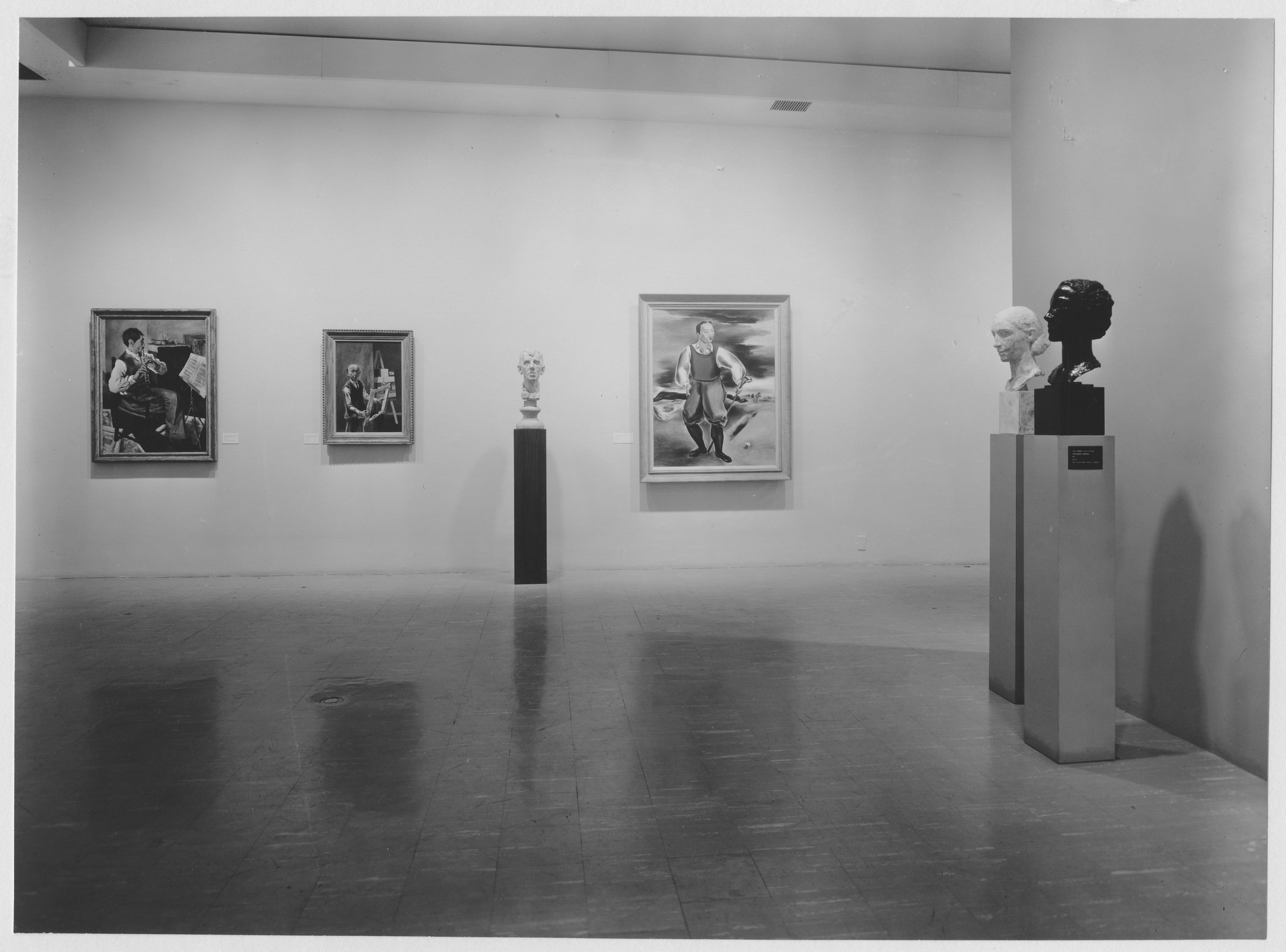 "Installation view of the exhibition, ""Portraits from the Museum Collection."" May 4, 1960–July 5, 1960 (Auditorium and First Floor); July 6, 1960–September 18, 1960 (Auditorium re-installation). Photographic Archive. The Museum of Modern Art Archives, New York. IN664.1. Photograph by Soichi Sunami."