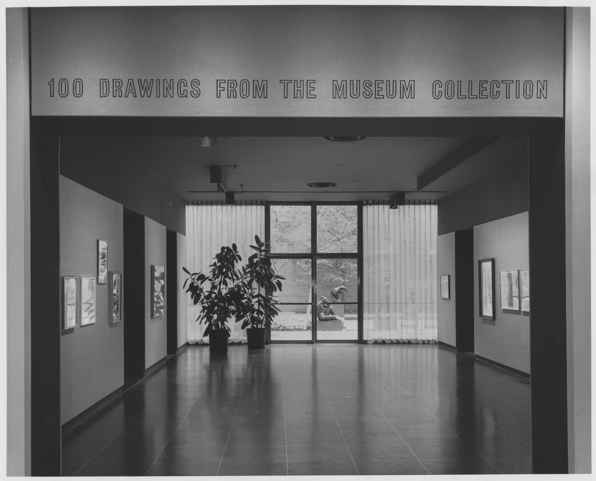 "Installation view of the exhibition, ""100 Drawings from the Museum Collection."" October 11, 1960–January 2, 1961. Photographic Archive. The Museum of Modern Art Archives, New York. IN674.1. Photograph by George Barrows."