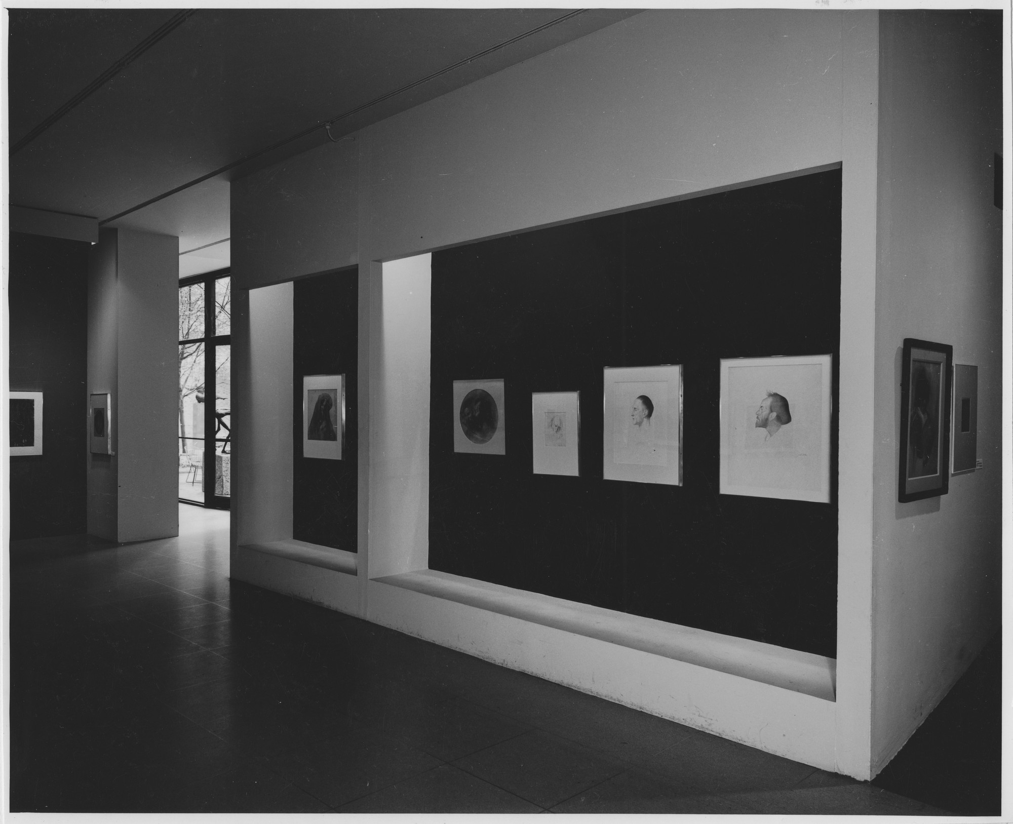 "Installation view of the exhibition, ""The Drawings of Joseph Stella."" October 26, 1960–November 13, 1960. Photographic Archive. The Museum of Modern Art Archives, New York. IN675.1. Photograph by George Barrows."