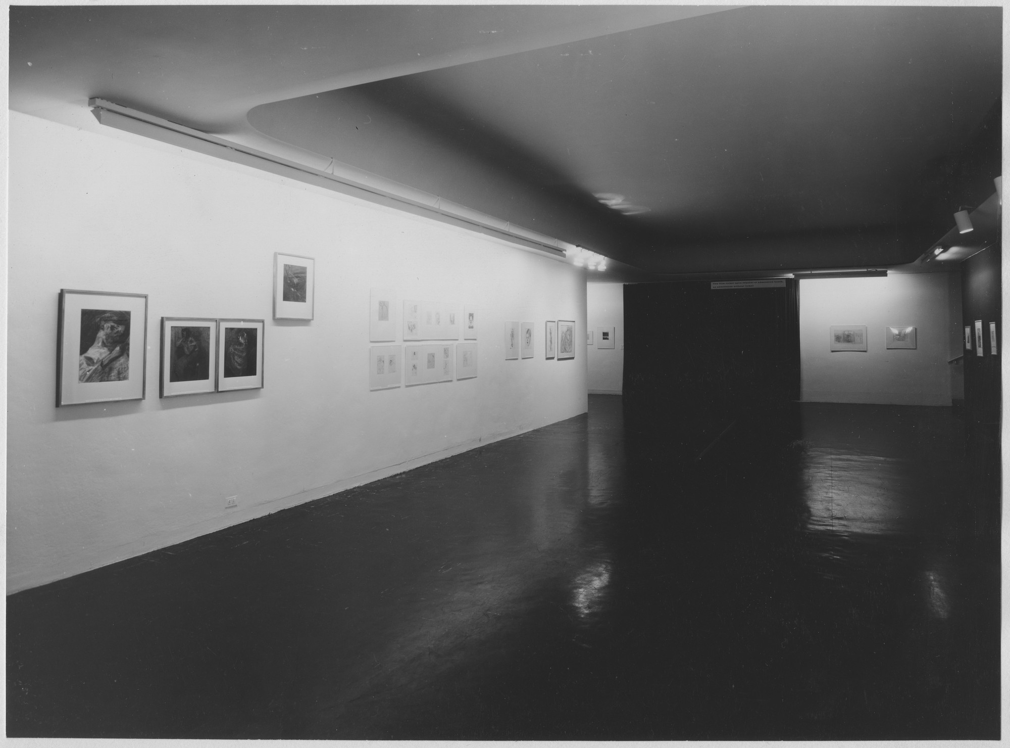 "Installation view of the exhibition, ""Umberto Boccioni:  Drawings and Etchings from the Collection of Mr. and Mrs. Harry Lewis Winston."" May 30, 1961–August 6, 1961. Photographic Archive. The Museum of Modern Art Archives, New York. IN686.1. Photograph by Soichi Sunami."