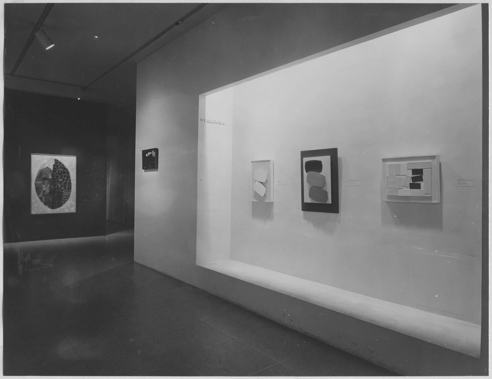 "Installation view of the exhibition, ""Fifteen Polish Painters."" August 1, 1961–October 1, 1961. Photographic Archive. The Museum of Modern Art Archives, New York. IN690.1. Photograph by Soichi Sunami."