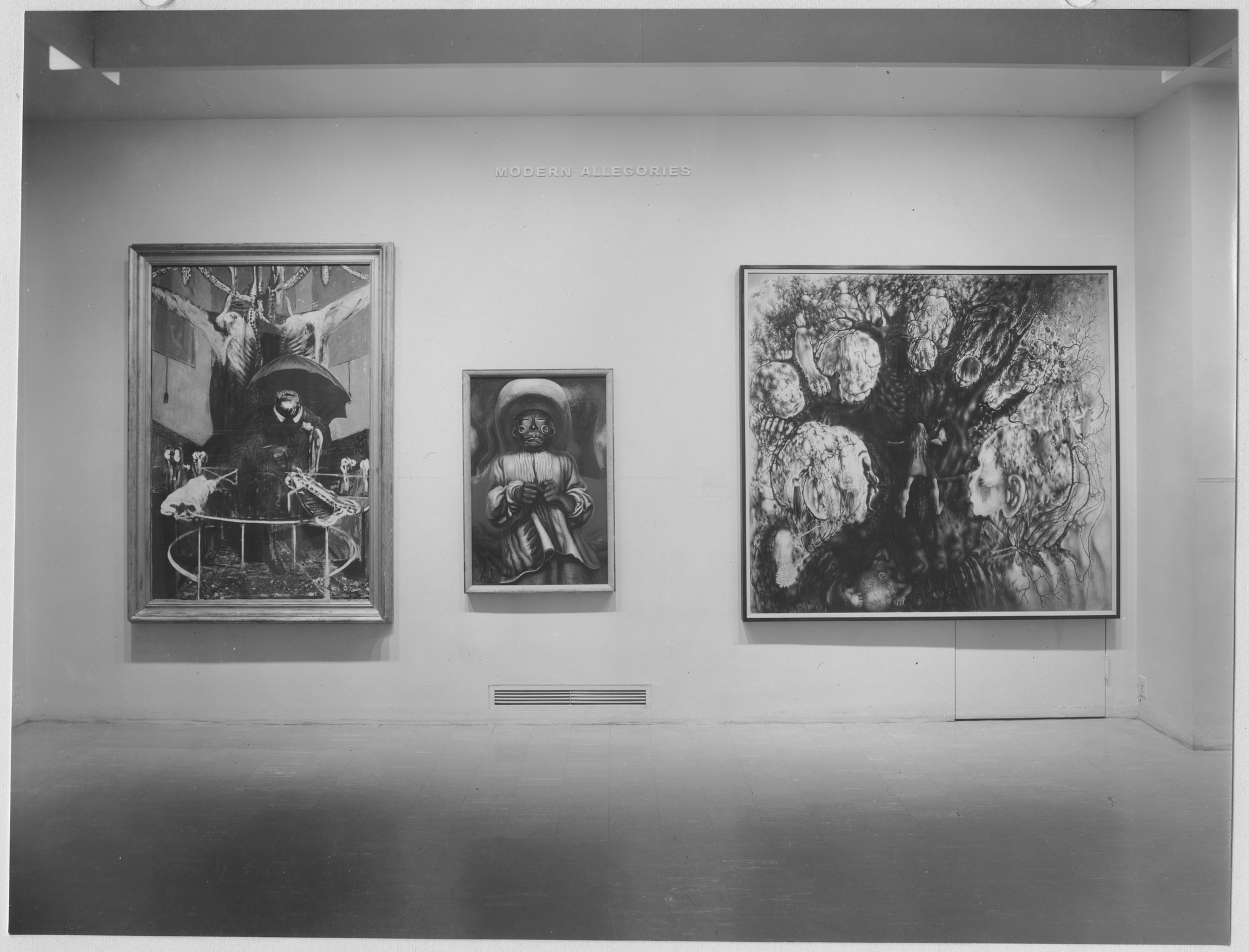 "Installation view of the exhibition, ""Modern Allegories (Collection)."" August 19, 1962–January 30, 1963. Photographic Archive. The Museum of Modern Art Archives, New York. IN693.1. Photograph by Soichi Sunami."