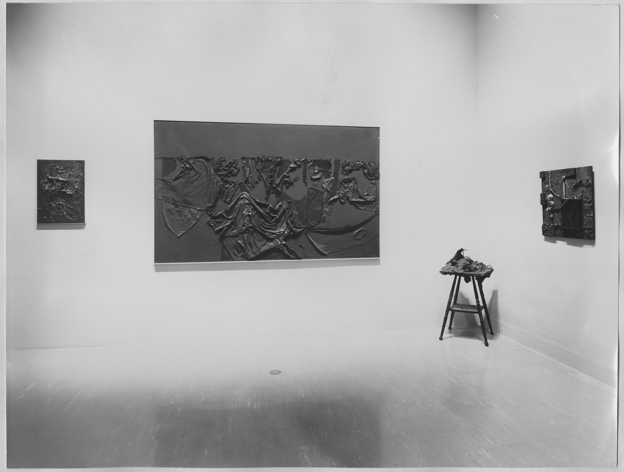 "Installation view of the exhibition, ""The Art of Assemblage."" October 4, 1961–November 12, 1961. Photographic Archive. The Museum of Modern Art Archives, New York. IN695.1. Photograph by Soichi Sunami."