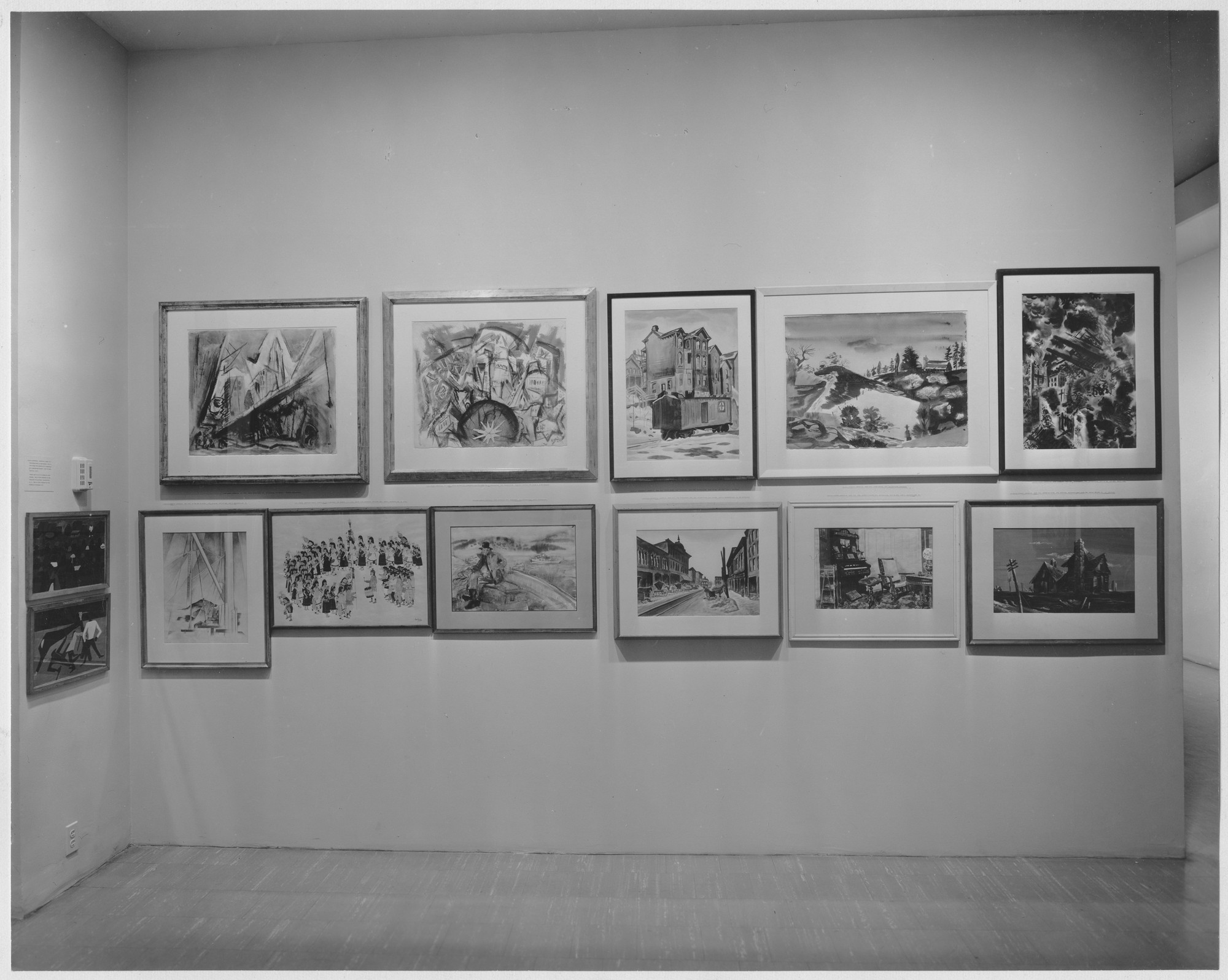 "Installation view of the exhibition, ""America Seen Between the Wars."" April 25, 1961–August 7, 1961. Photographic Archive. The Museum of Modern Art Archives, New York. IN684.1. Photograph by Soichi Sunami."
