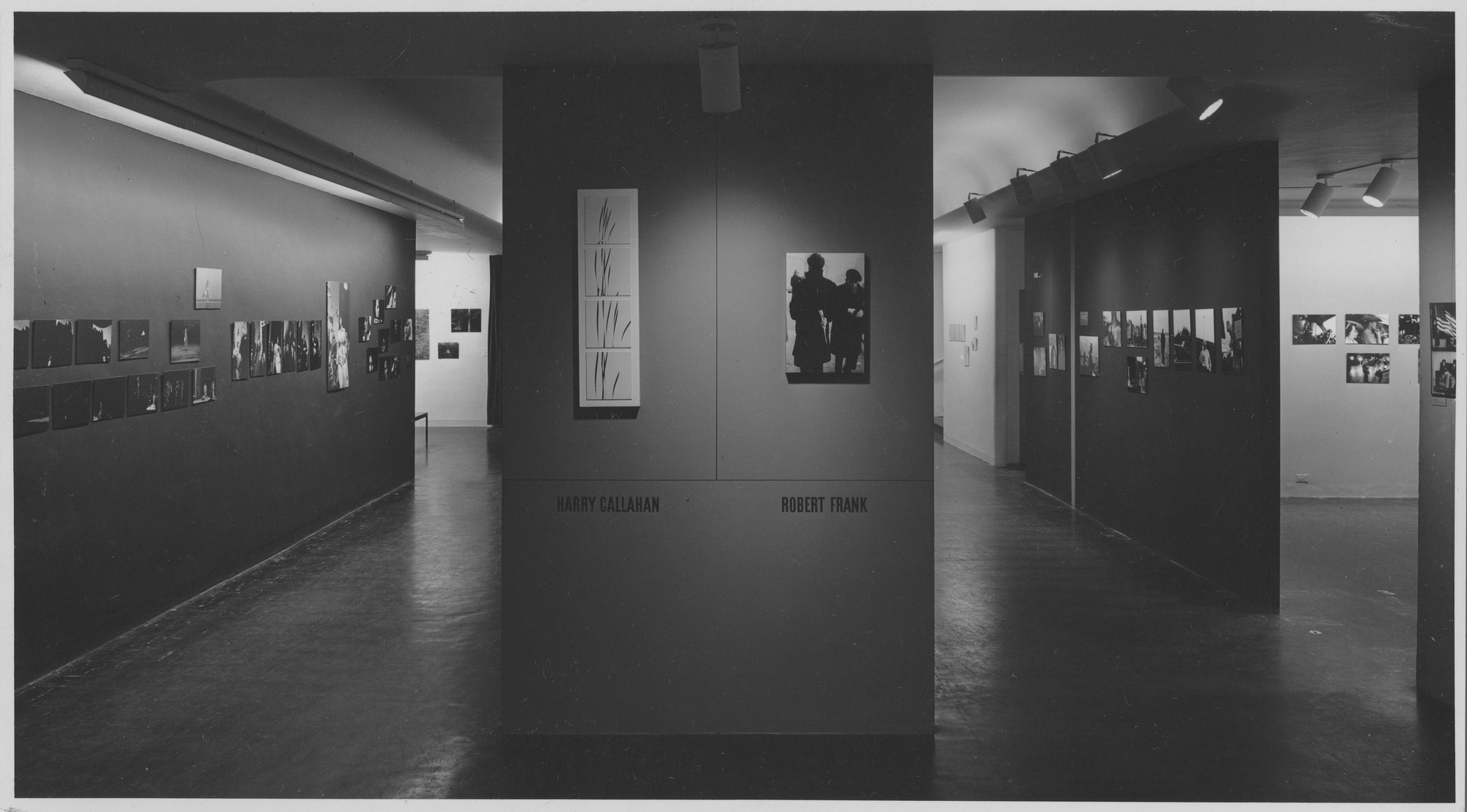 "Installation view of the exhibition, ""Harry Callahan and Robert Frank."" January 30, 1962–April 1, 1962. Photographic Archive. The Museum of Modern Art Archives, New York. IN701.1. Photograph by Rolf Petersen."