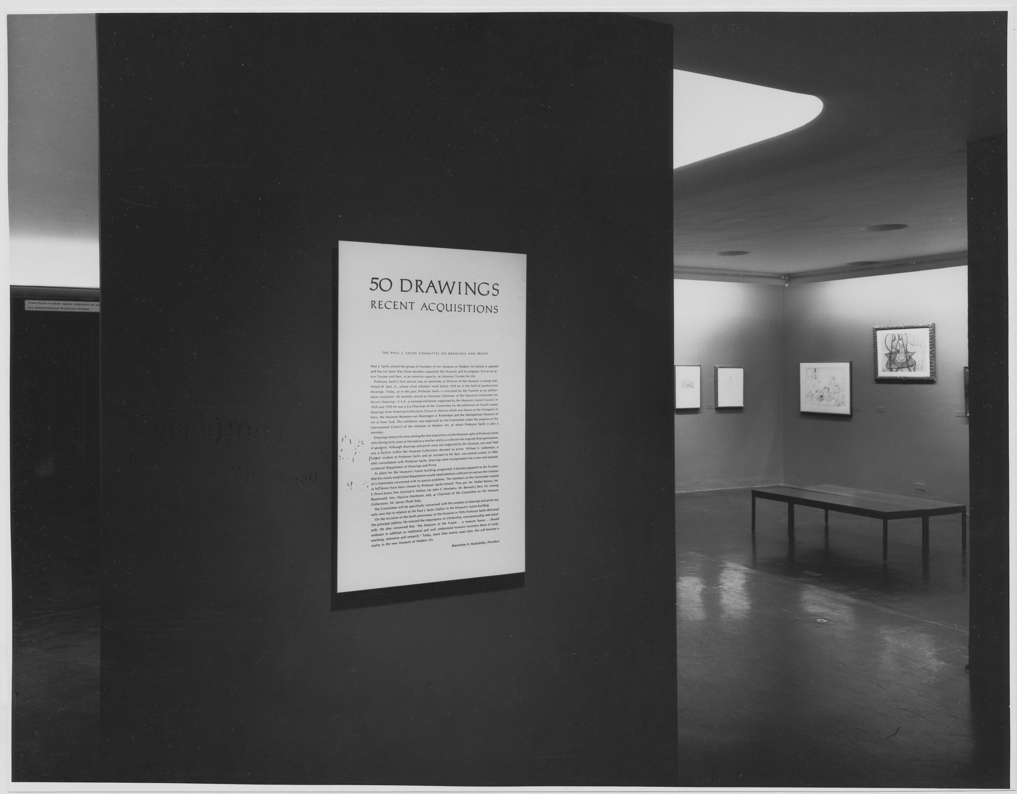 "Installation view of the exhibition, ""Fifty Drawings:  Recent Acquisitions."" April 10, 1962–August 12, 1962. Photographic Archive. The Museum of Modern Art Archives, New York. IN704.1. Photograph by George Barrows."