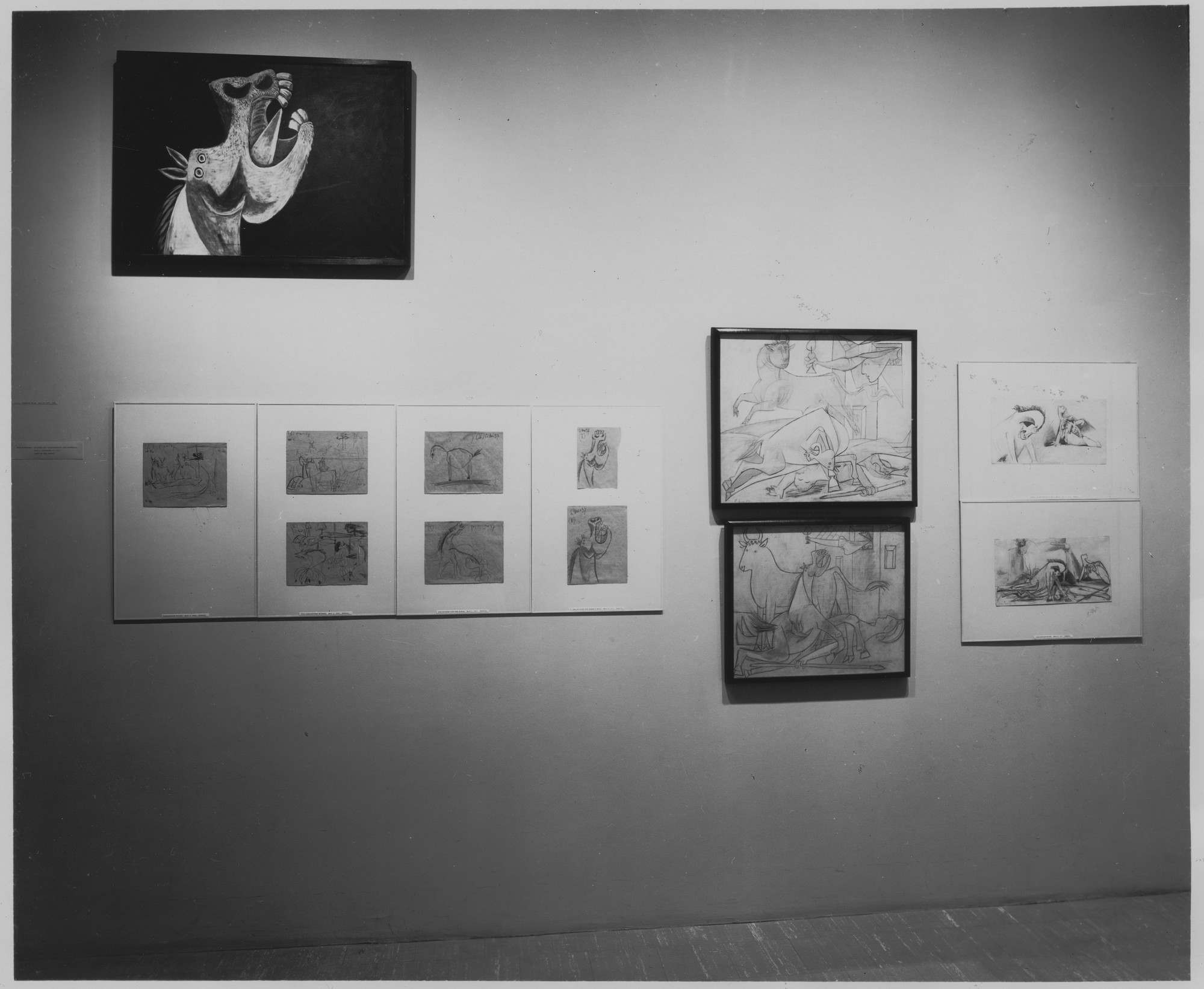 "Installation view of the exhibition, ""80th Birthday Exhibition - Picasso The Museum Collection Present and Future."" May 14, 1962–September 18, 1962. Photographic Archive. The Museum of Modern Art Archives, New York. IN705.1. Photograph by Soichi Sunami."