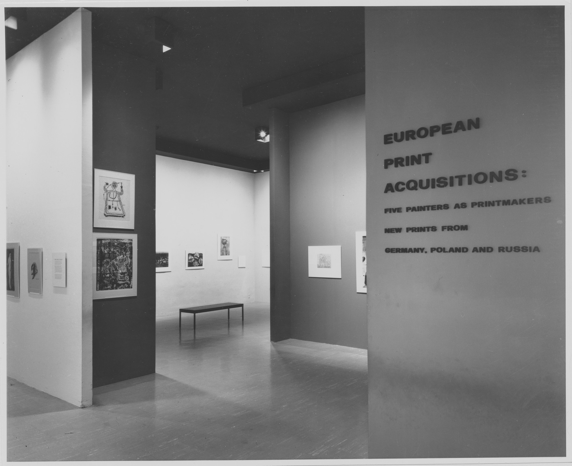 "Installation view of the exhibition, ""European Print Acquisitions."" October 18, 1962–November 25, 1962. Photographic Archive. The Museum of Modern Art Archives, New York. IN712.1. Photograph by George Barrows."