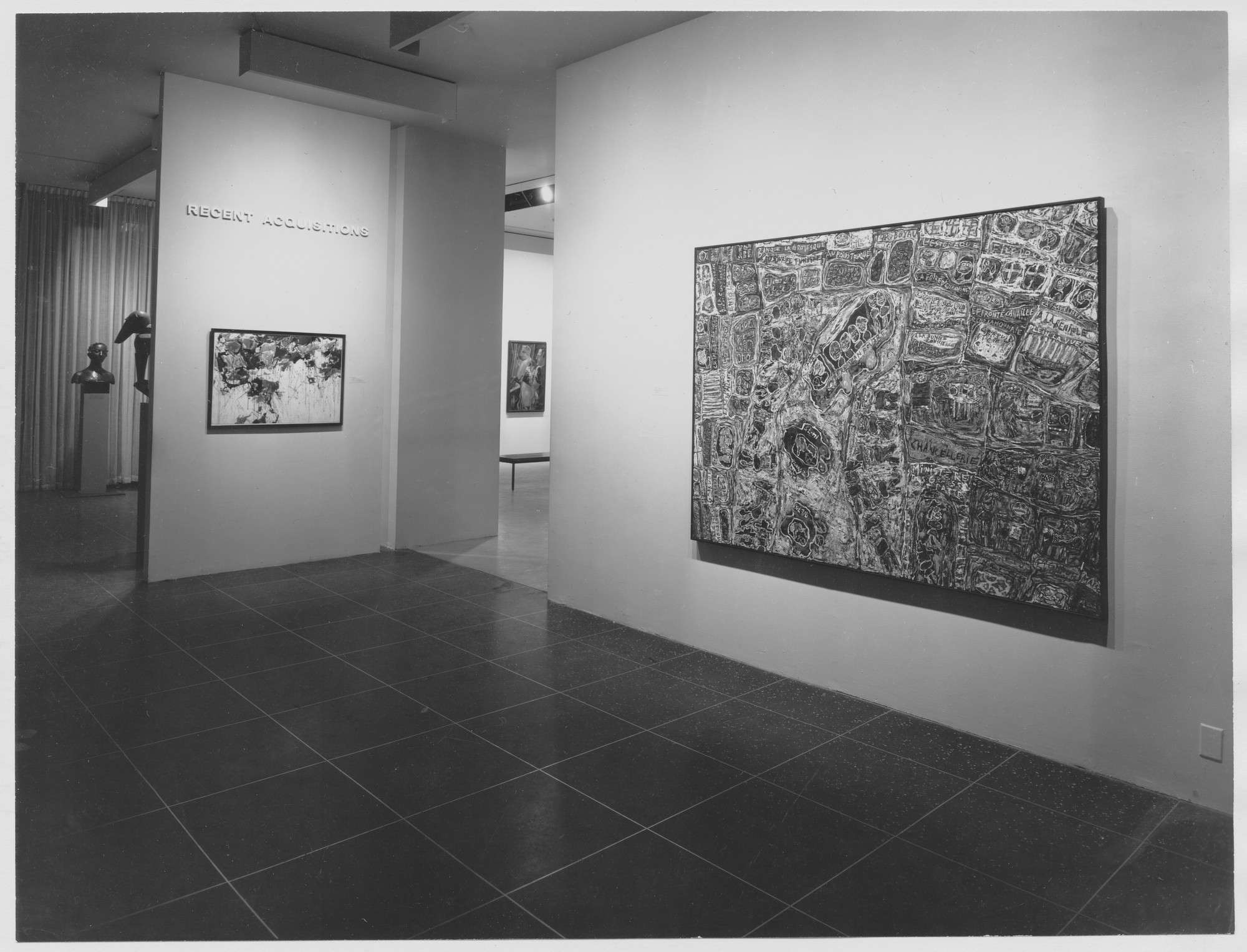 "Installation view of the exhibition, ""Recent Acquisitions."" November 20, 1962–January 13, 1963. Photographic Archive. The Museum of Modern Art Archives, New York. IN715.1. Photograph by Soichi Sunami."