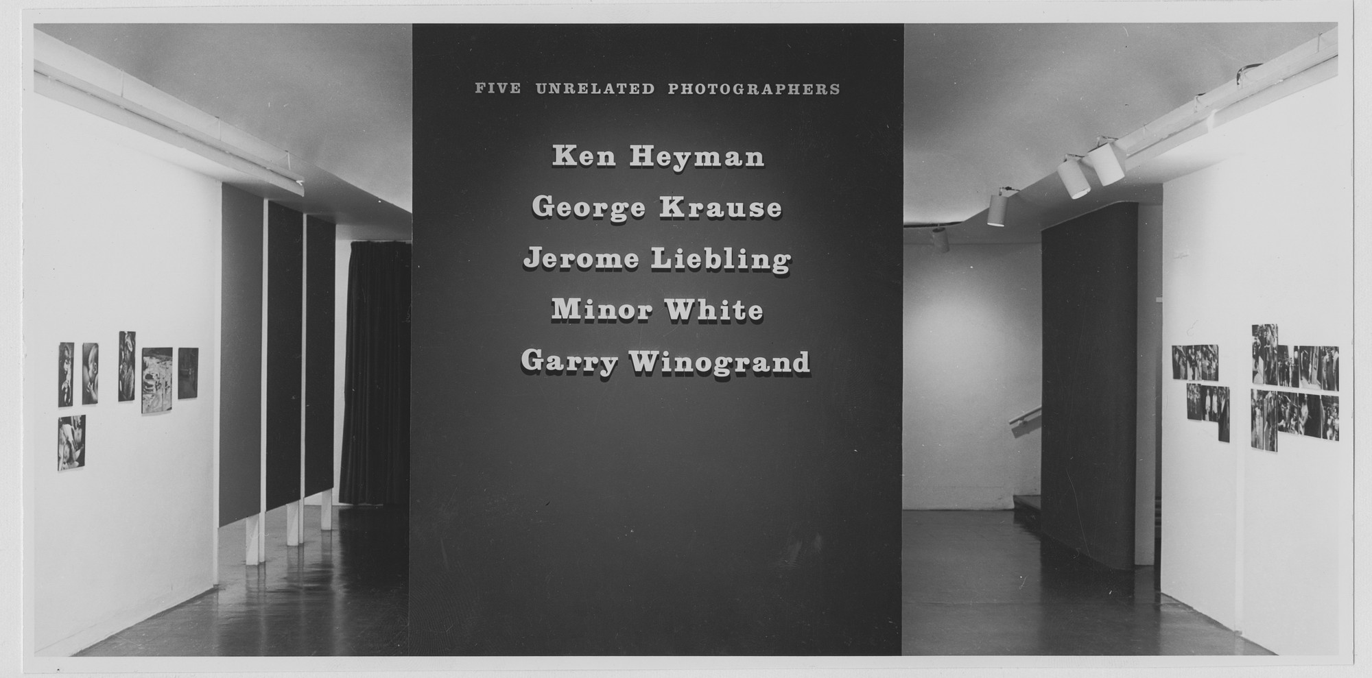 "Installation view of the exhibition, ""Five Unrelated Photographers."" May 28, 1963–July 21, 1963. Photographic Archive. The Museum of Modern Art Archives, New York. IN723.1"