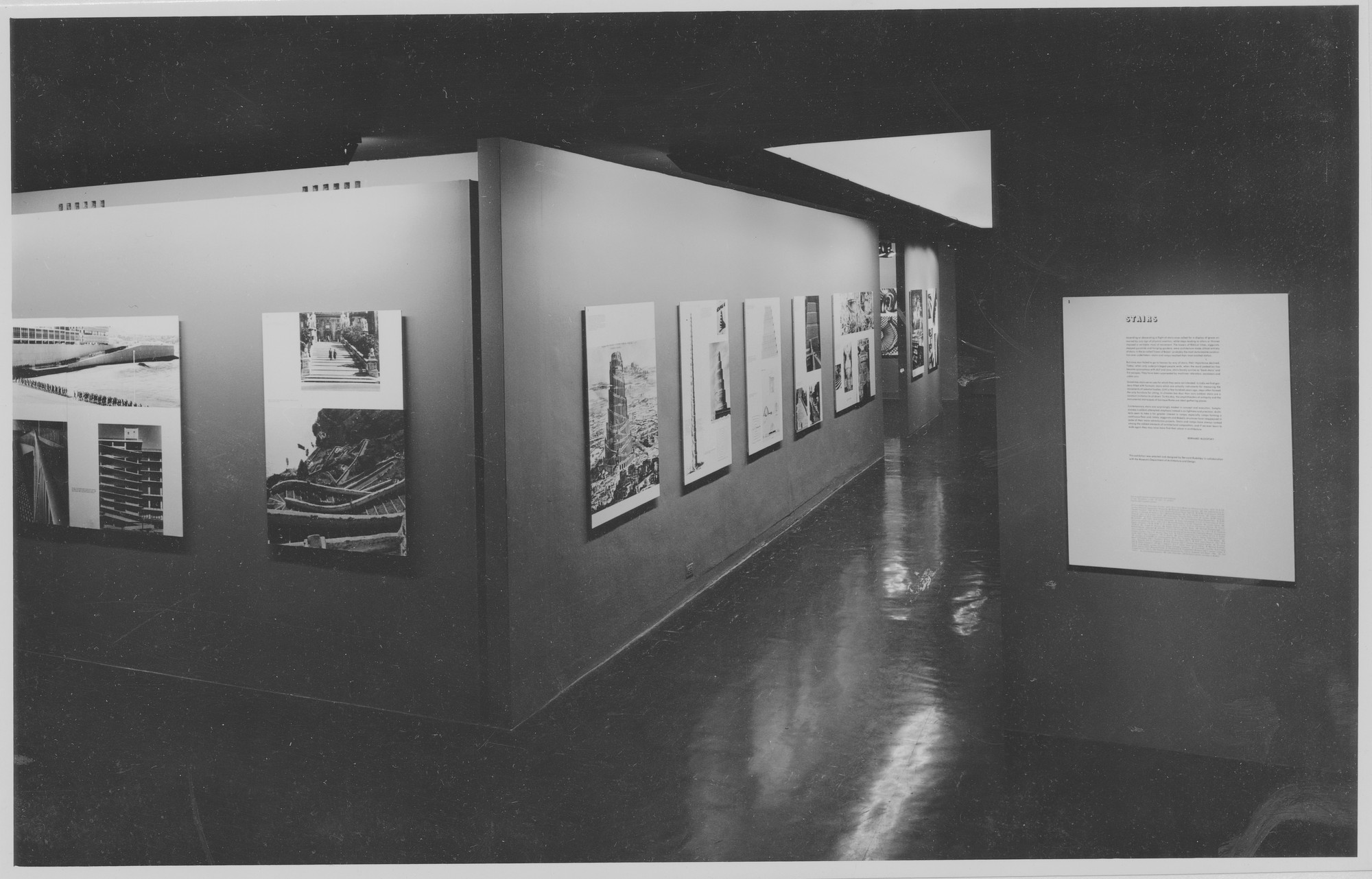 "Installation view of the exhibition, ""Stairs."" October 9, 1963–December1, 1963. Photographic Archive. The Museum of Modern Art Archives, New York. IN730.1. Photograph by George Barrows."