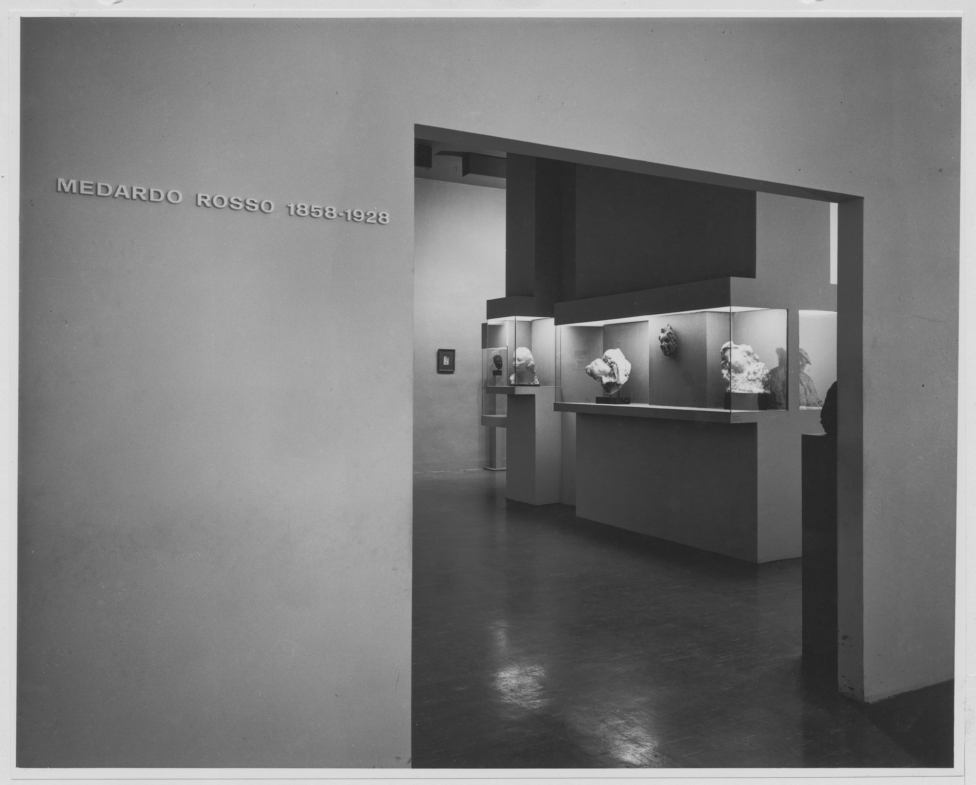 "Installation view of the exhibition, ""Medardo Rosso:  1858-1928."" October 2, 1963–November 23, 1963. Photographic Archive. The Museum of Modern Art Archives, New York. IN729.1. Photograph by George Barrows."