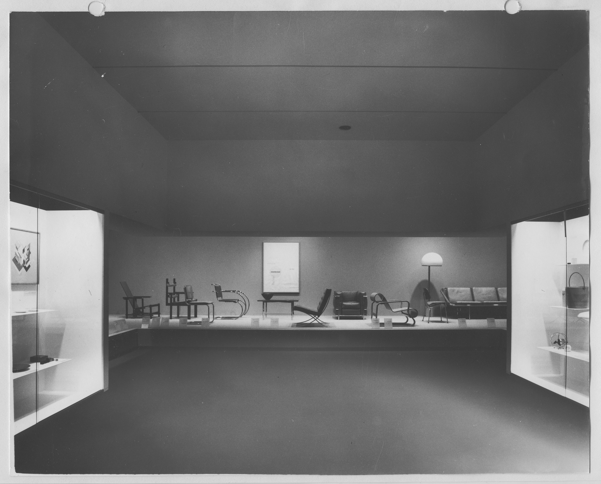 "Installation view of the exhibition, ""Philip L. Goodwin Galleries of Architecture and Design,"" in the series, ""Art in a Changing World: 1884-1964."" May 27, 1964 [unknown closing date]. Photographic Archive. The Museum of Modern Art Archives, New York. IN737.1. Photograph by Stan Ries."