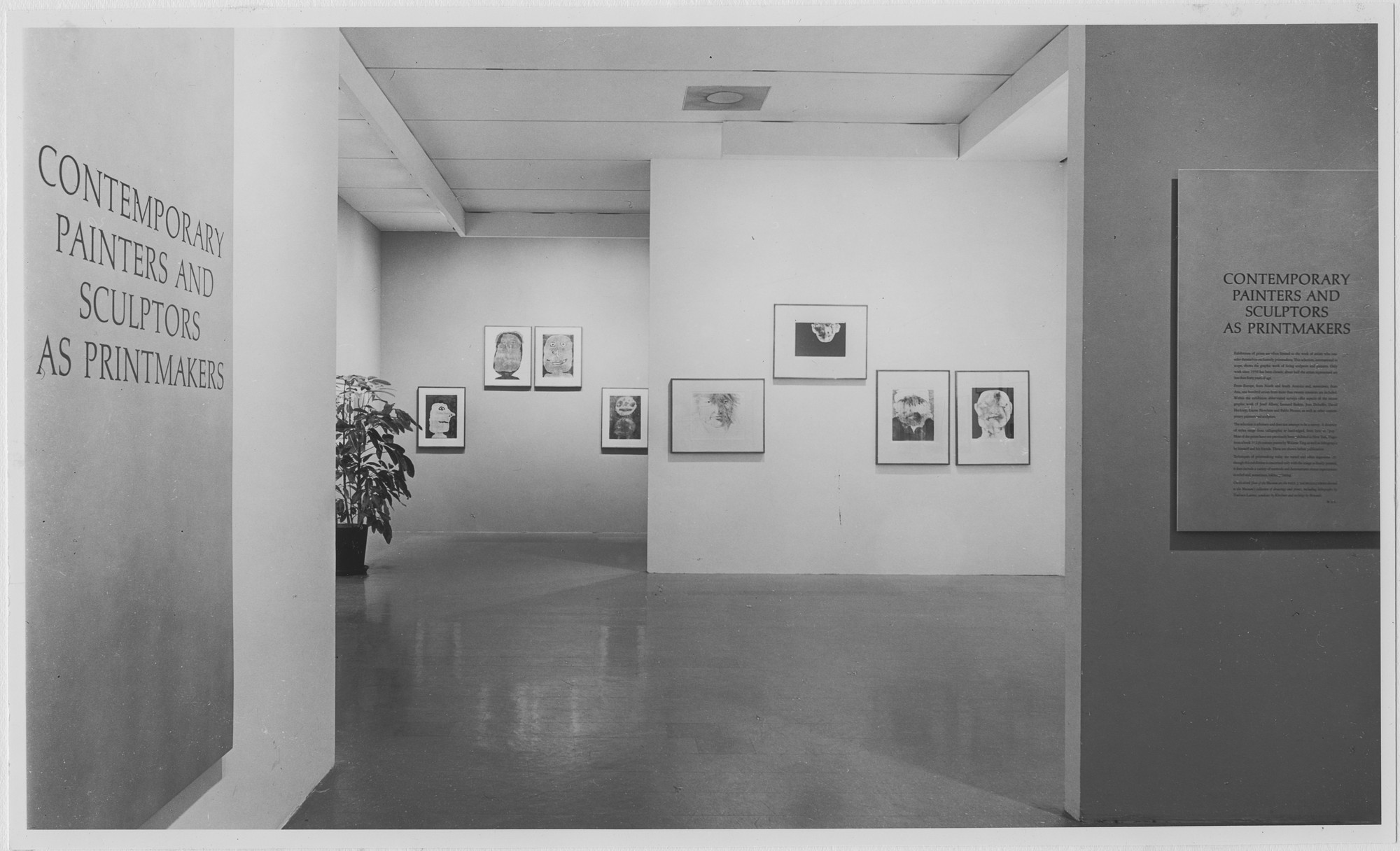 "Installation view of the exhibition, ""Contemporary Painters and Sculptors as Printmakers."" September 15, 1964–October 24, 1964. Photographic Archive. The Museum of Modern Art Archives, New York. IN747.1. Photograph by Rolf Petersen."