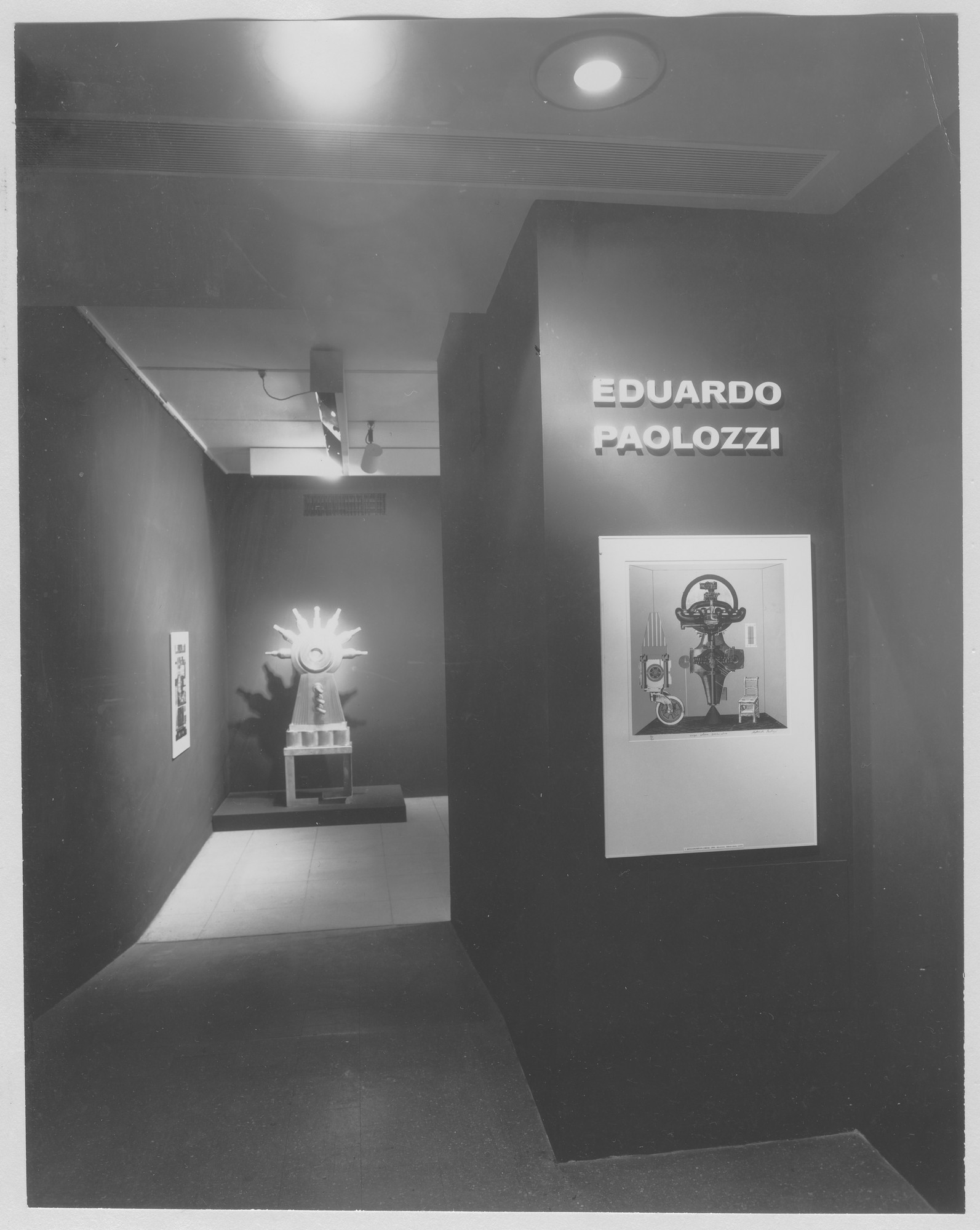 "Installation view of the exhibition, ""Eduardo Paolozzi."" September 21, 1964–November 10, 1964. Photographic Archive. The Museum of Modern Art Archives, New York. IN748.1. Photograph by Soichi Sunami."