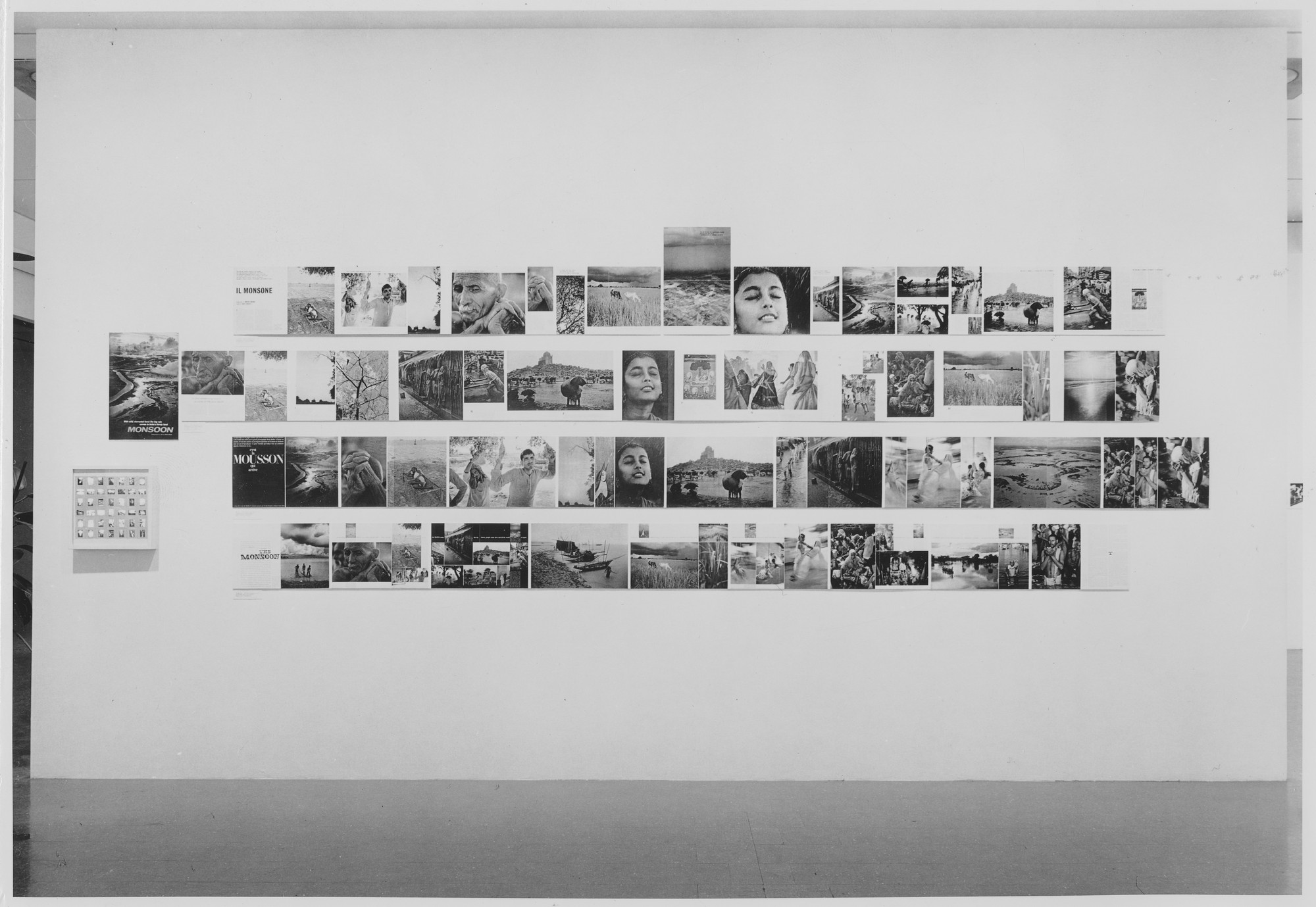 "Installation view of the exhibition, ""The Photo Essay."" March 16, 1965–May 16, 1965. Photographic Archive. The Museum of Modern Art Archives, New York. IN760.1. Photograph by Rolf Petersen."
