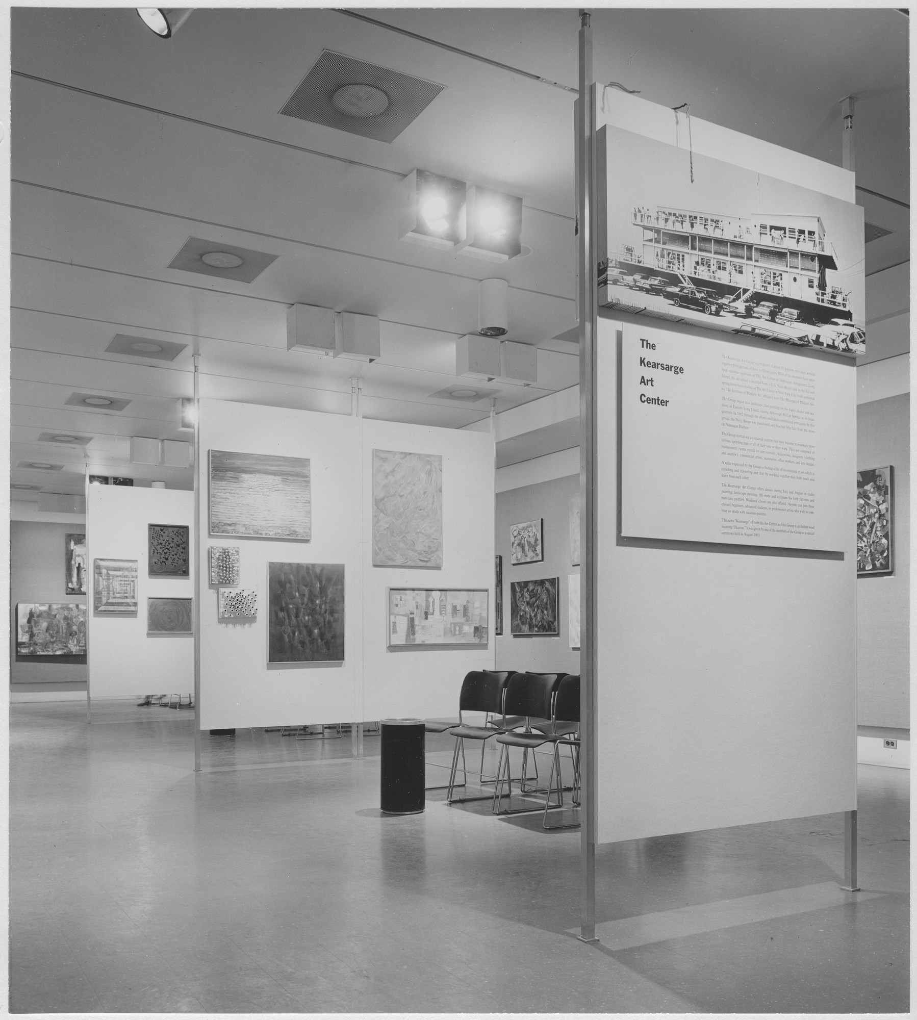 "Installation view of the exhibition, ""The Kearsage Art Group."" April 15, 1965–May 28, 1965. Photographic Archive. The Museum of Modern Art Archives, New York. IN762.1. Photograph by Rolf Petersen."