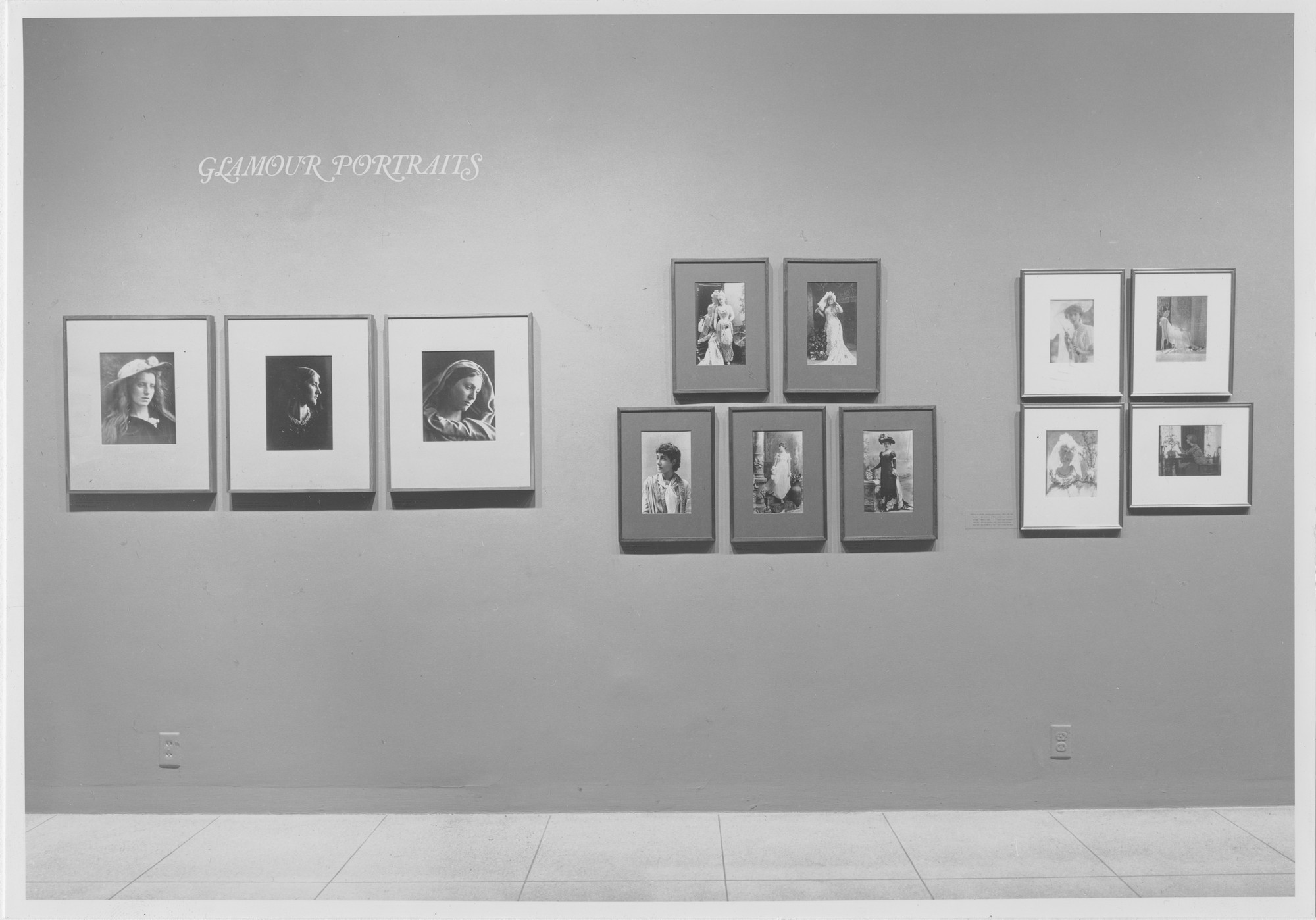 "Installation view of the exhibition, ""Glamour Portraits."" August 2, 1965–September 19, 1965. Photographic Archive. The Museum of Modern Art Archives, New York. IN770.1. Photograph by Rolf Petersen."