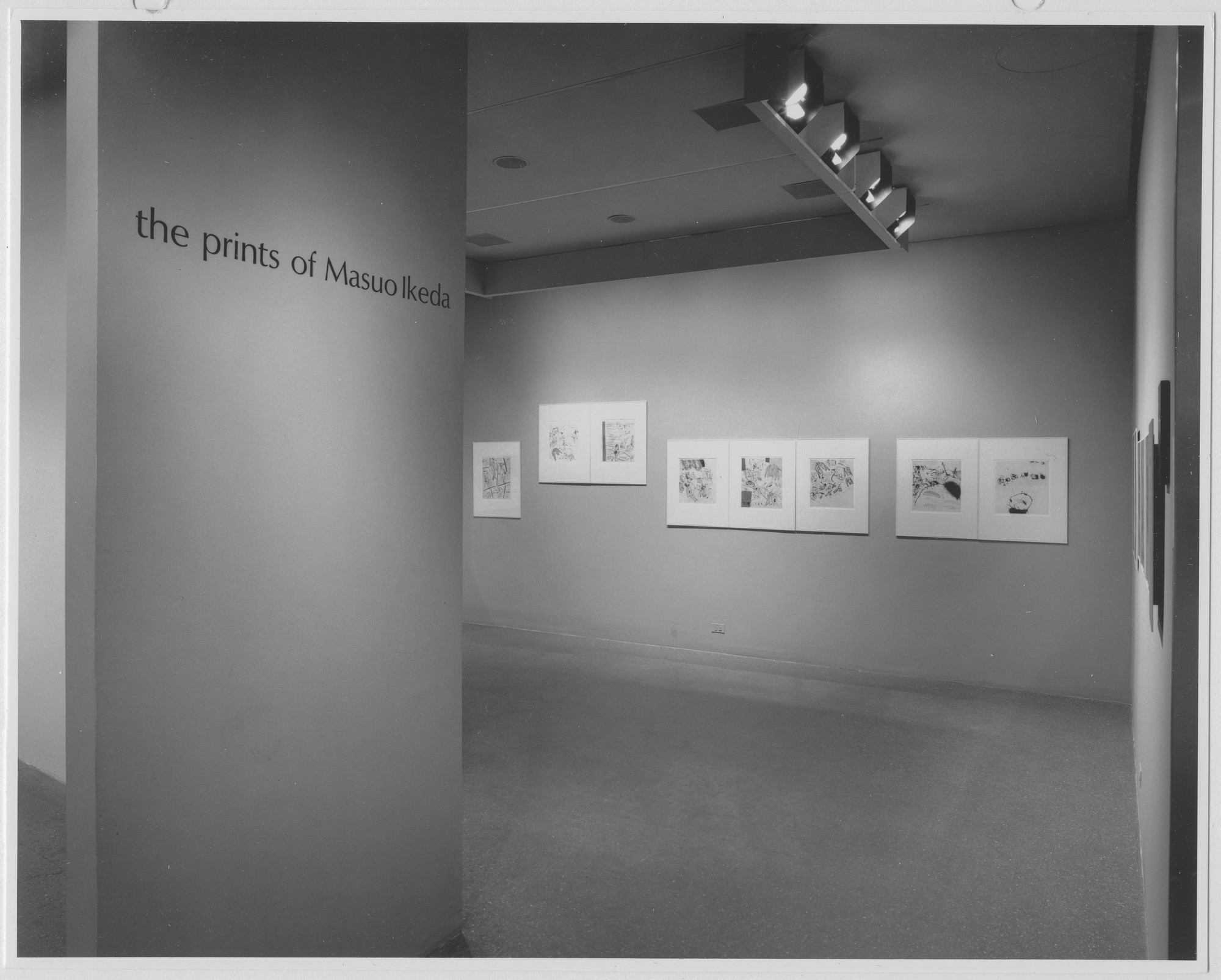 "Installation view of the exhibition, ""The Prints of Masuo Ikeda."" August 10, 1965–September 19, 1965. Photographic Archive. The Museum of Modern Art Archives, New York. IN771.1. Photograph by George Cserna."