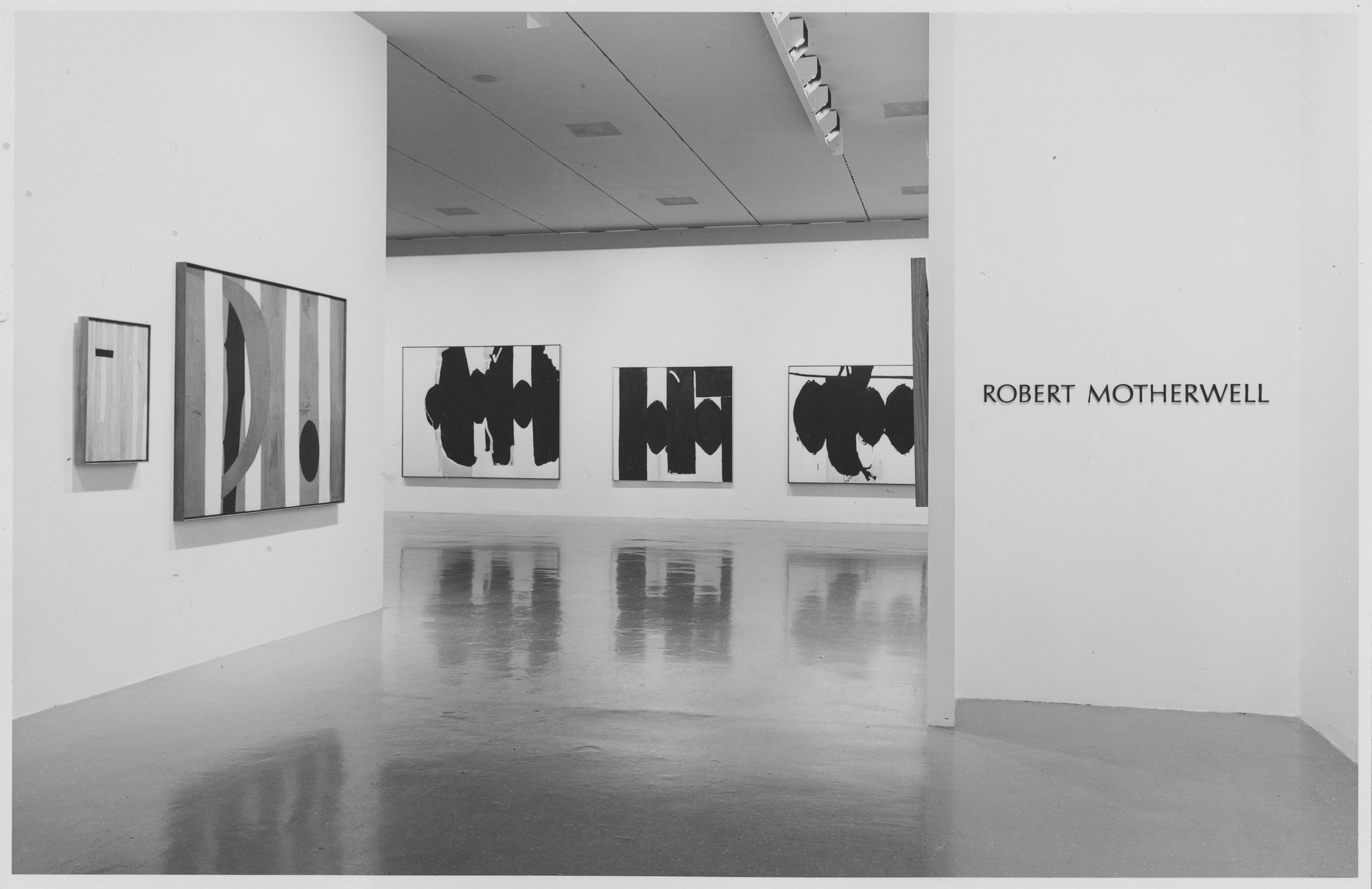 "Installation view of the exhibition, ""Robert Motherwell"" October 1, 1965–November 28, 1965. Photographic Archive. The Museum of Modern Art Archives, New York. IN776.1. Photograph by Rolf Petersen."