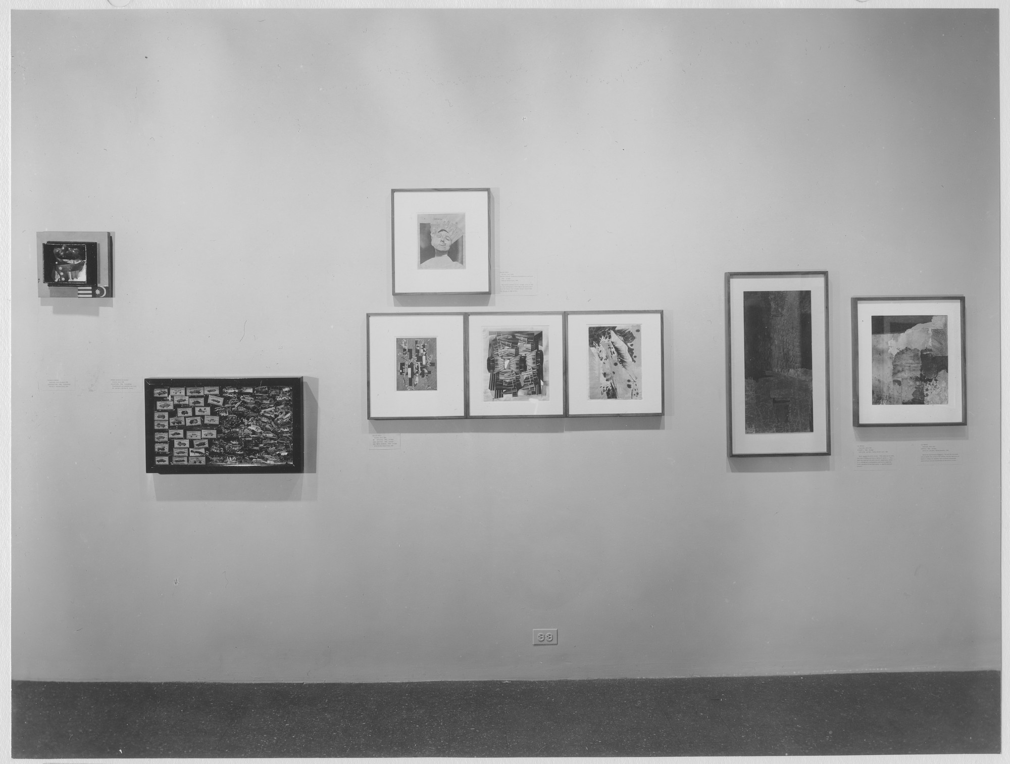 "Installation view of the exhibition, ""Recent Acquisitions:  Assemblage."" April 19, 1965–September 12, 1965. Photographic Archive. The Museum of Modern Art Archives, New York. IN763.1. Photograph by Soichi Sunami."