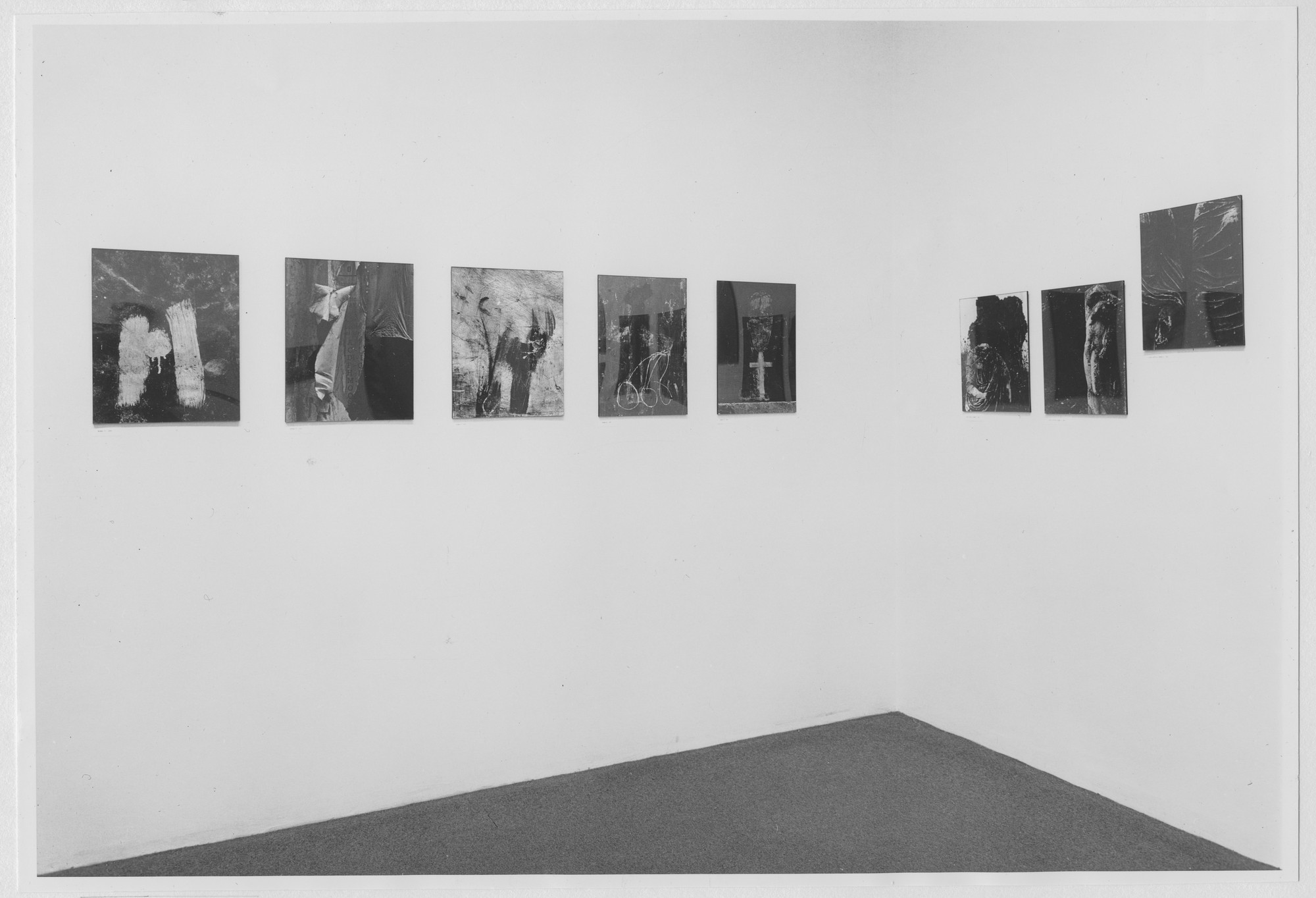 "Installation view of the exhibition, ""Siskind Recently."" May 5, 1965–June 27, 1965. Photographic Archive. The Museum of Modern Art Archives, New York. IN765.1. Photograph by Rolf Petersen."